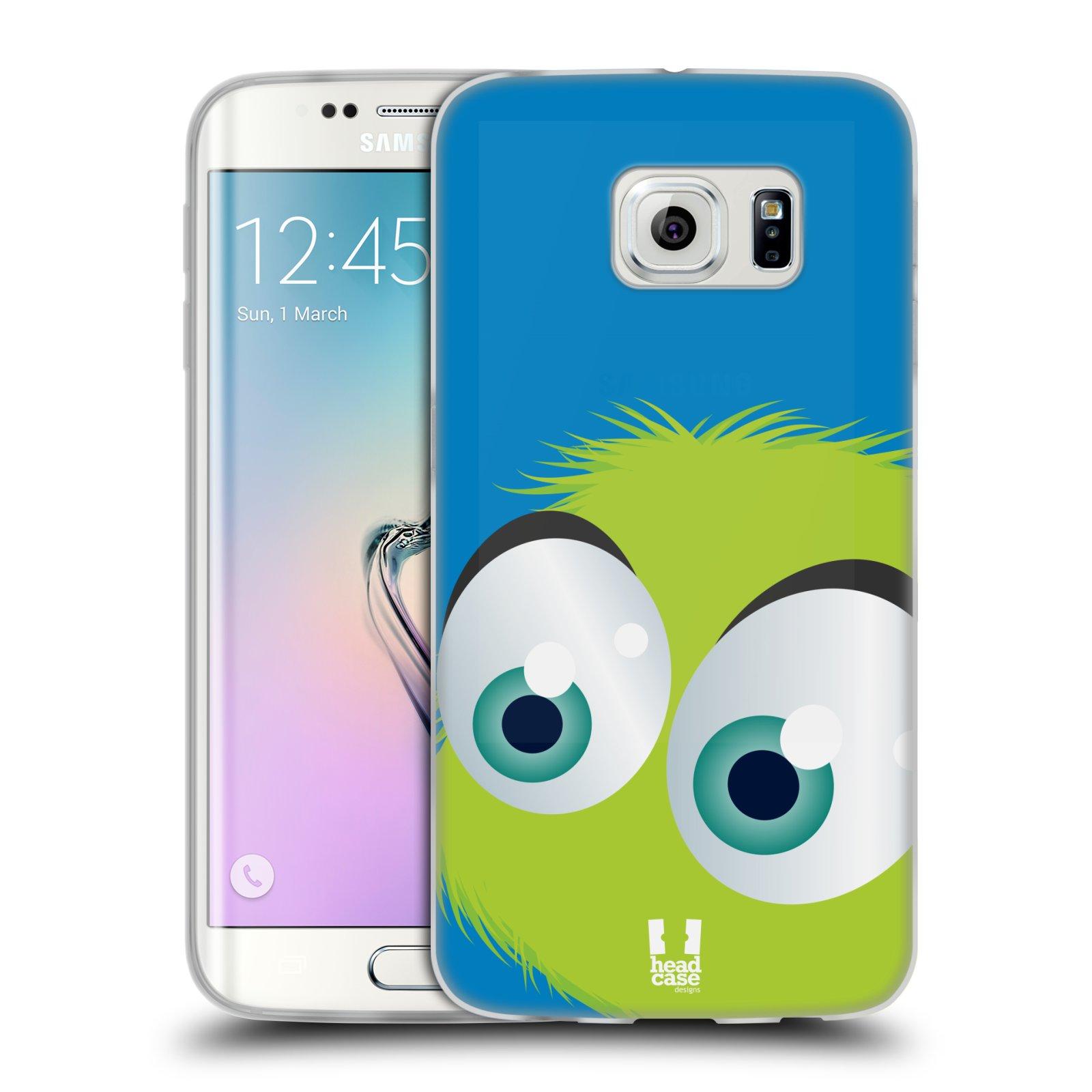 Silikonové pouzdro na mobil Samsung Galaxy S6 Edge HEAD CASE FUZÍK ZELENÝ (Silikonový kryt či obal na mobilní telefon Samsung Galaxy S6 Edge SM-G925F)