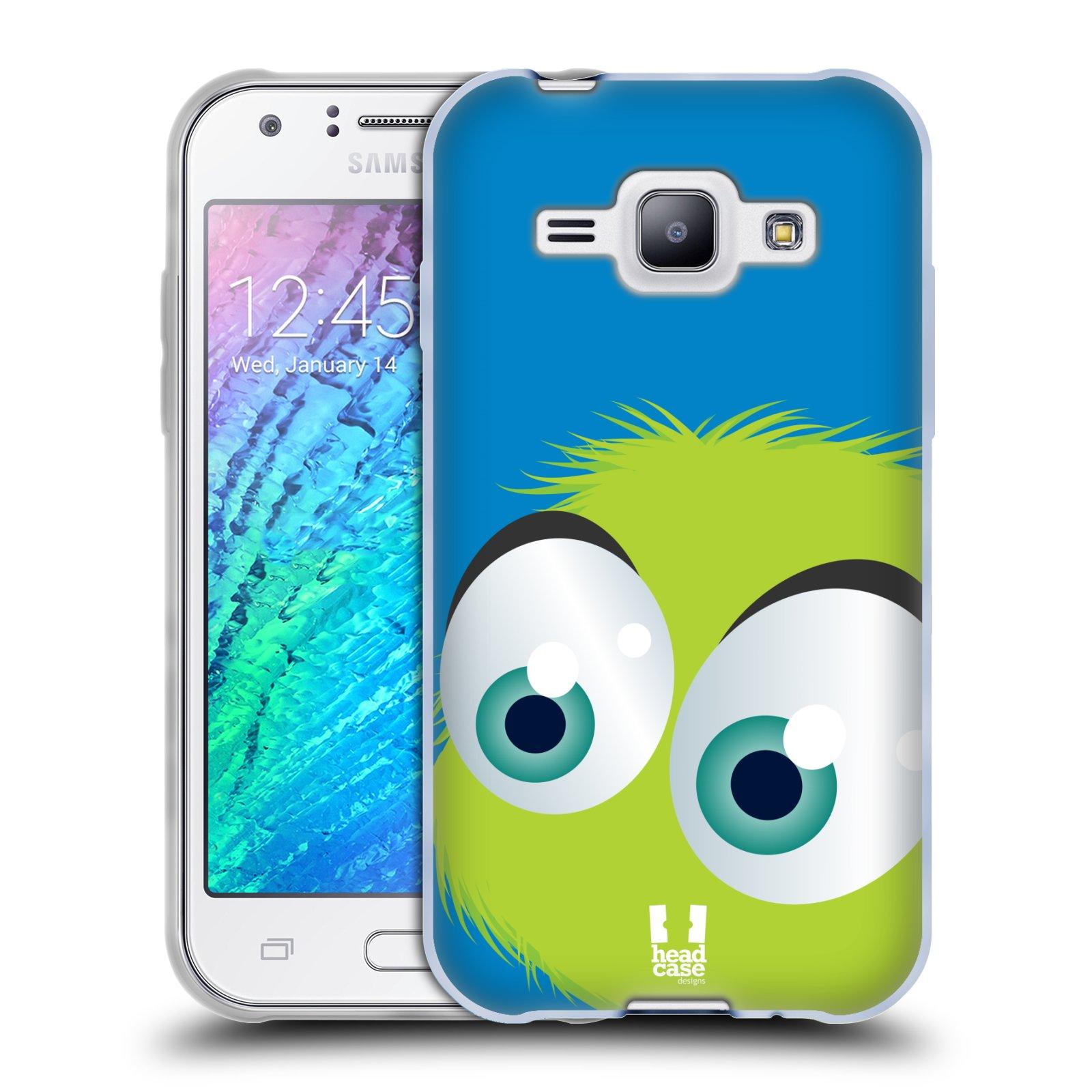 Silikonové pouzdro na mobil Samsung Galaxy J1 HEAD CASE FUZÍK ZELENÝ (Silikonový kryt či obal na mobilní telefon Samsung Galaxy J1 a J1 Duos)