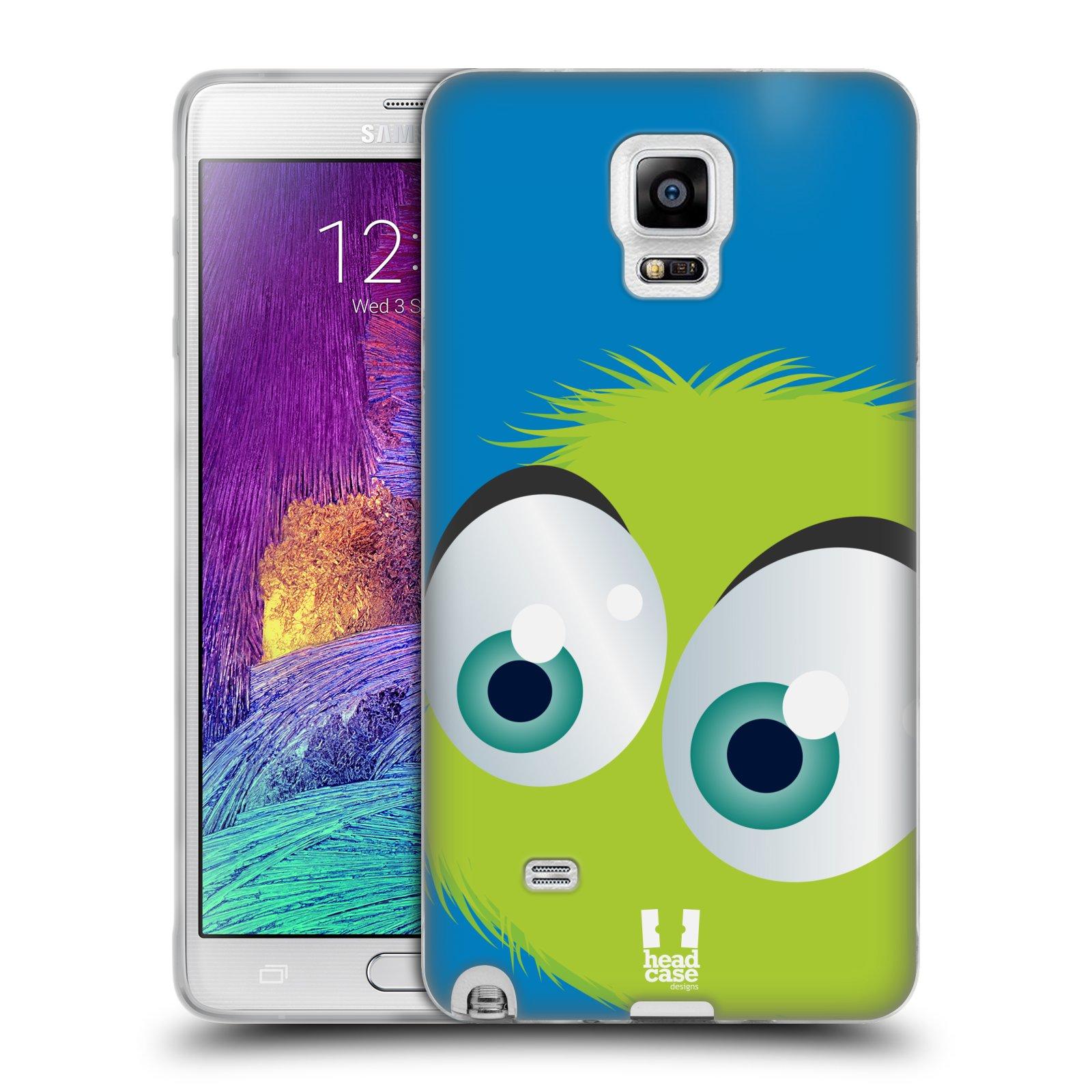 Silikonové pouzdro na mobil Samsung Galaxy Note 4 HEAD CASE FUZÍK ZELENÝ (Silikonový kryt či obal na mobilní telefon Samsung Galaxy Note 4 SM-N910F)