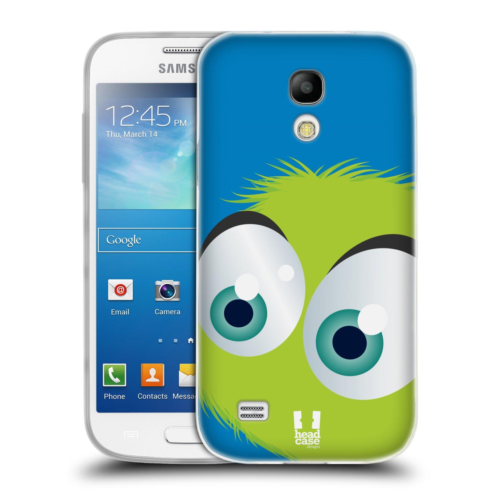 Silikonové pouzdro na mobil Samsung Galaxy S4 Mini HEAD CASE FUZÍK ZELENÝ (Silikonový kryt či obal na mobilní telefon Samsung Galaxy S4 Mini GT-i9195 / i9190 (nepasuje na verzi Black Edition))