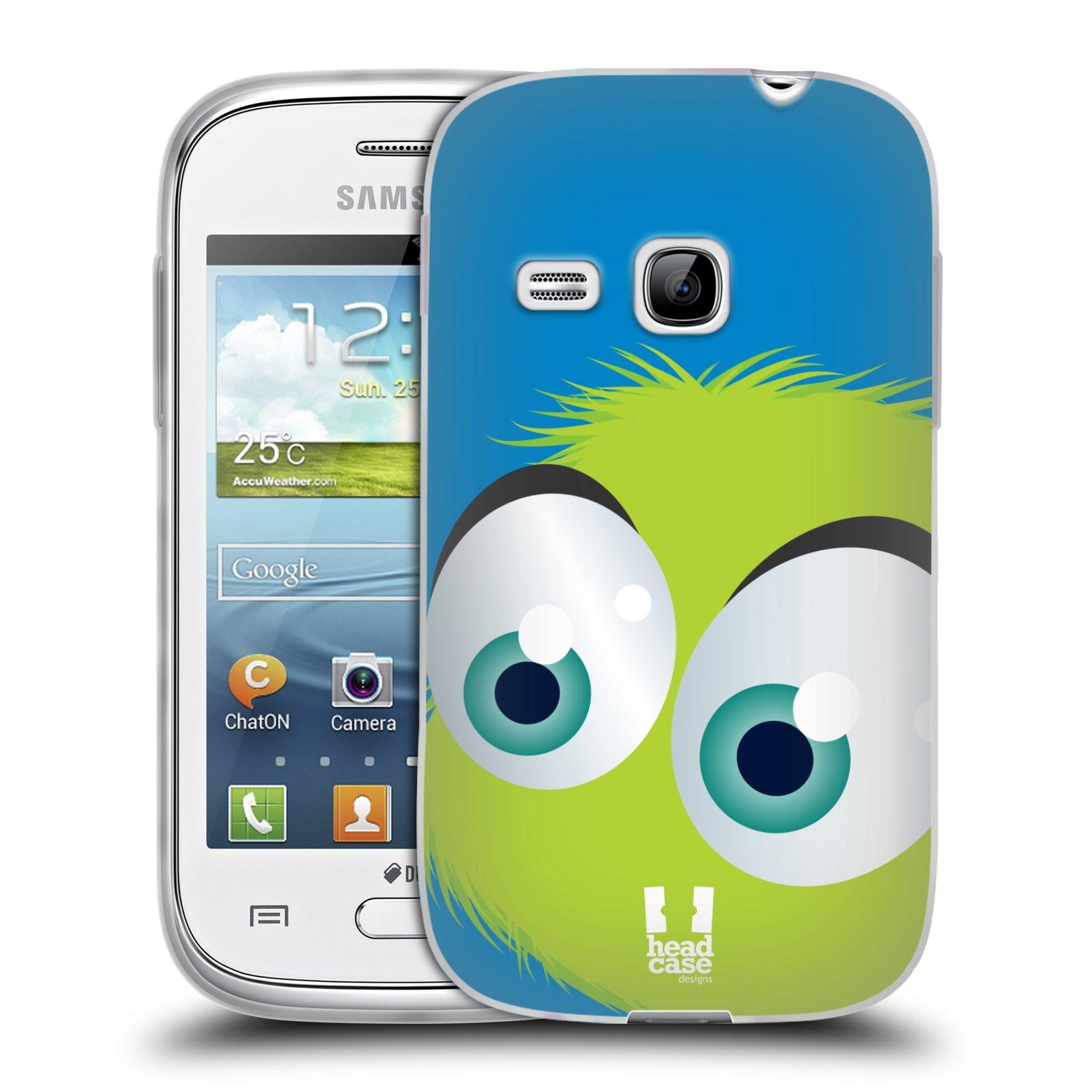 Silikonové pouzdro na mobil Samsung Galaxy Young HEAD CASE FUZÍK ZELENÝ (Silikonový kryt či obal na mobilní telefon Samsung Galaxy Young GT-S6310)