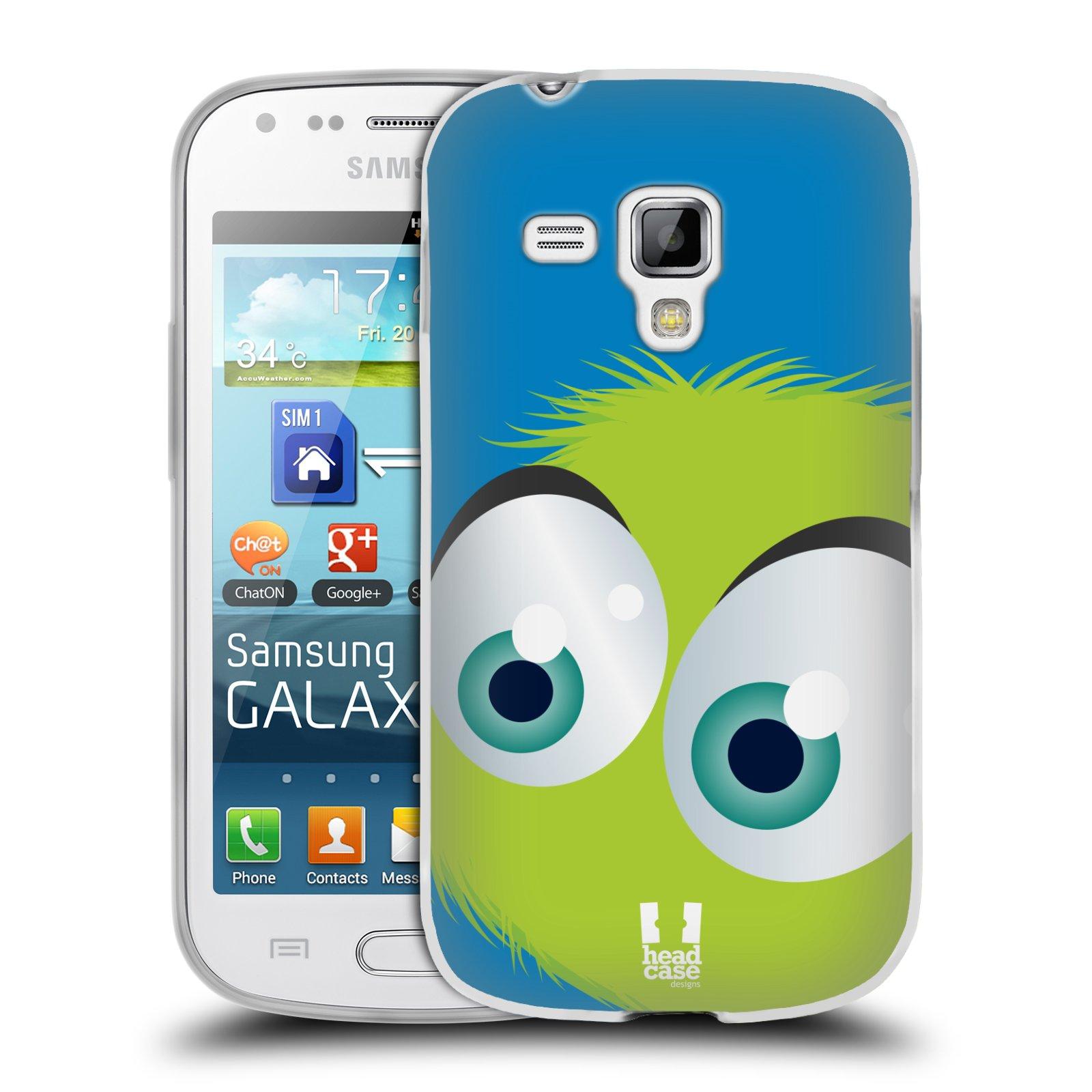 Silikonové pouzdro na mobil Samsung Galaxy Trend HEAD CASE FUZÍK ZELENÝ (Silikonový kryt či obal na mobilní telefon Samsung Galaxy Trend GT-S7560)