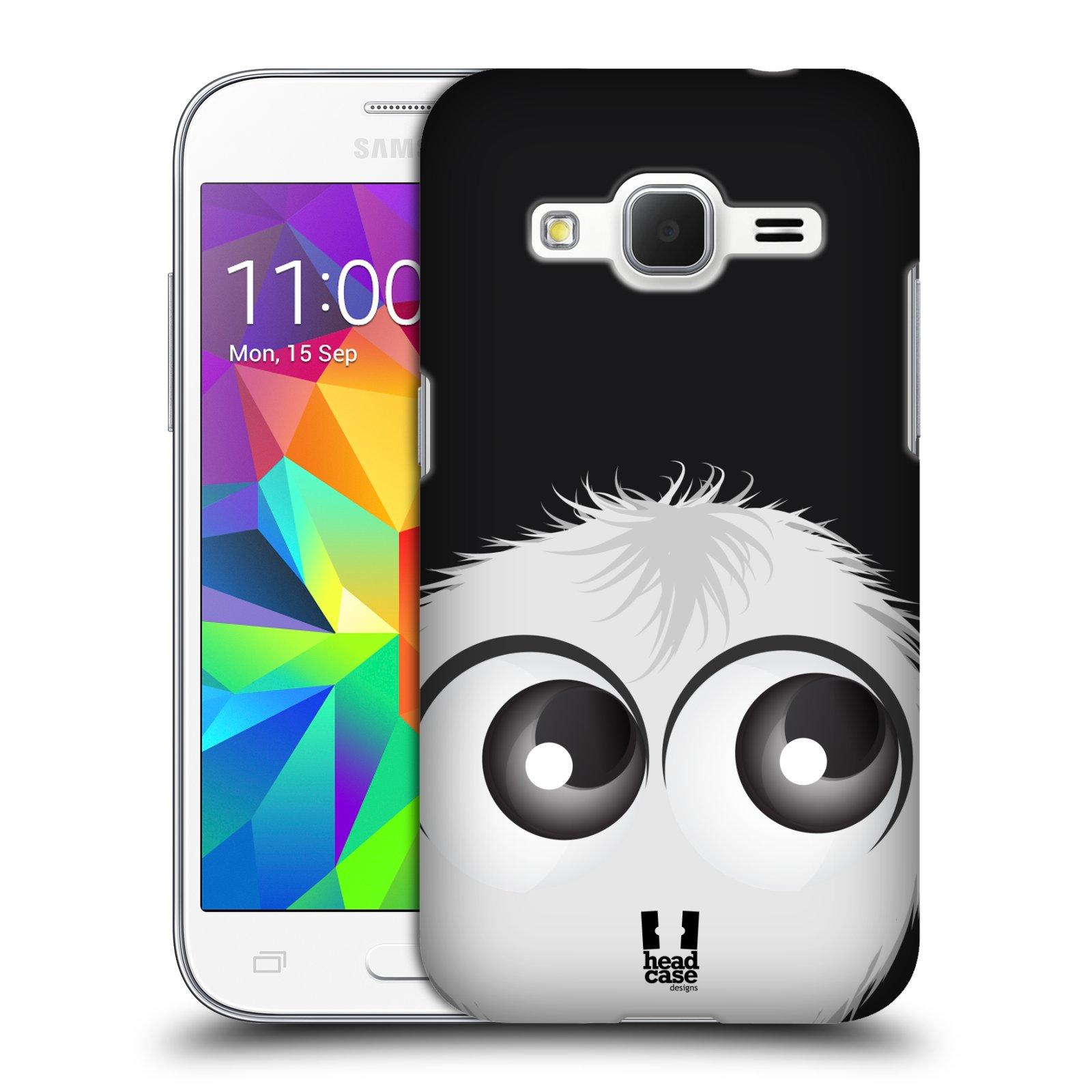 Plastové pouzdro na mobil Samsung Galaxy Core Prime LTE HEAD CASE FUZÍK BÍLÝ (Kryt či obal na mobilní telefon Samsung Galaxy Core Prime LTE SM-G360)