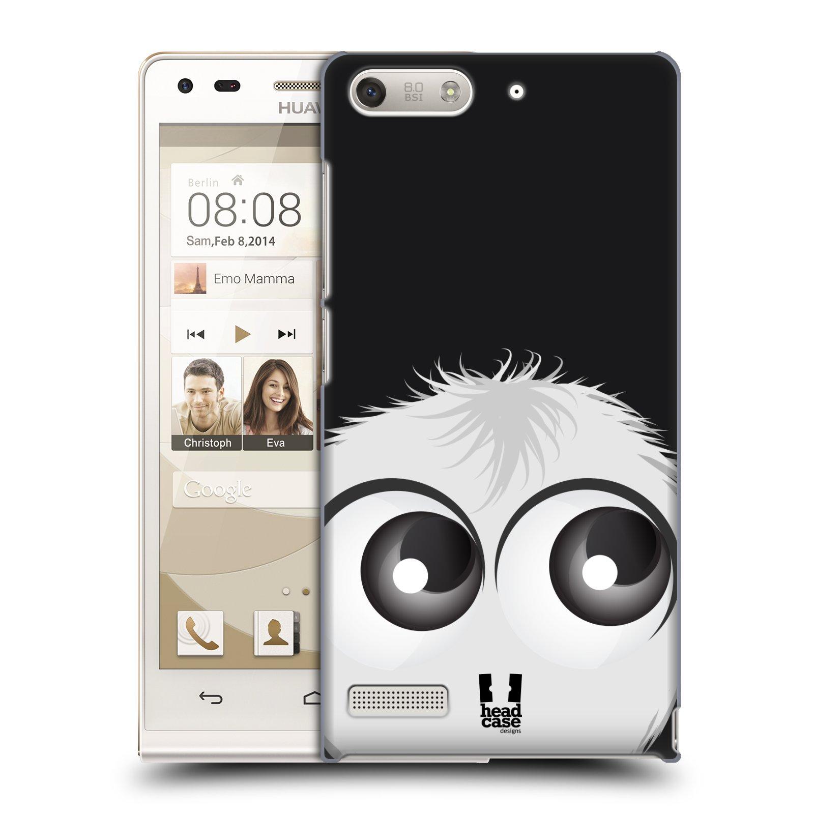 Plastové pouzdro na mobil Huawei Ascend G6 HEAD CASE FUZÍK BÍLÝ (Kryt či obal na mobilní telefon Huawei Ascend G6 bez LTE)