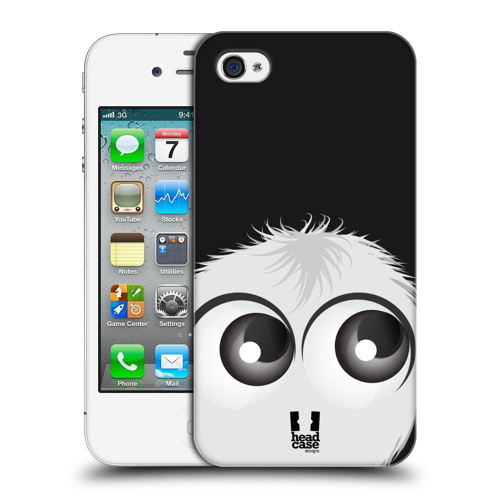 Plastové pouzdro na mobil Apple iPhone 4 a 4S HEAD CASE FUZÍK BÍLÝ (Kryt či obal na mobilní telefon Apple iPhone 4 a 4S)