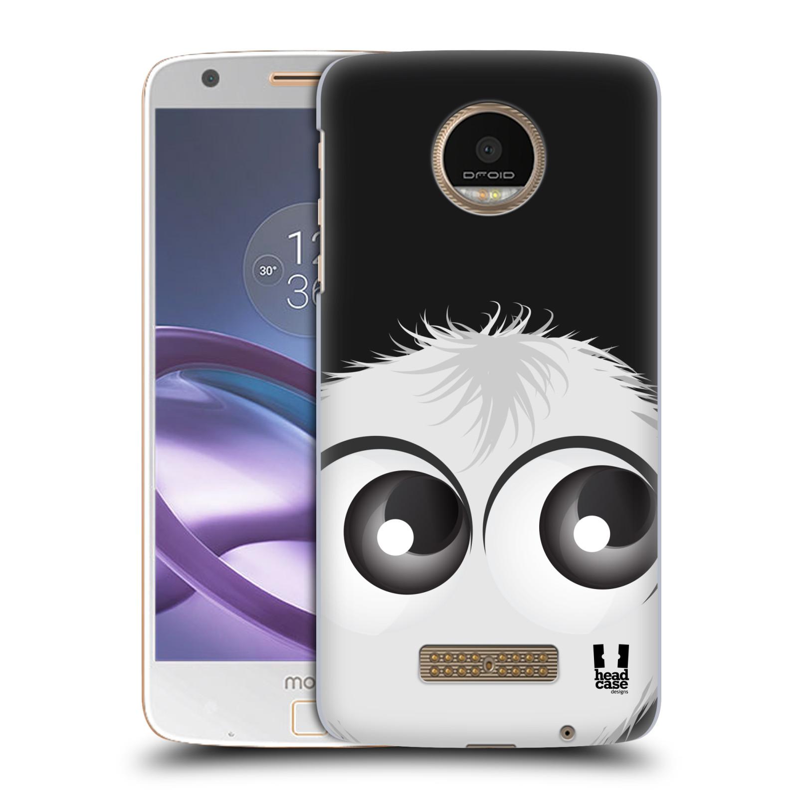 Plastové pouzdro na mobil Lenovo Moto Z HEAD CASE FUZÍK BÍLÝ (Plastový kryt či obal na mobilní telefon Lenovo Moto Z)