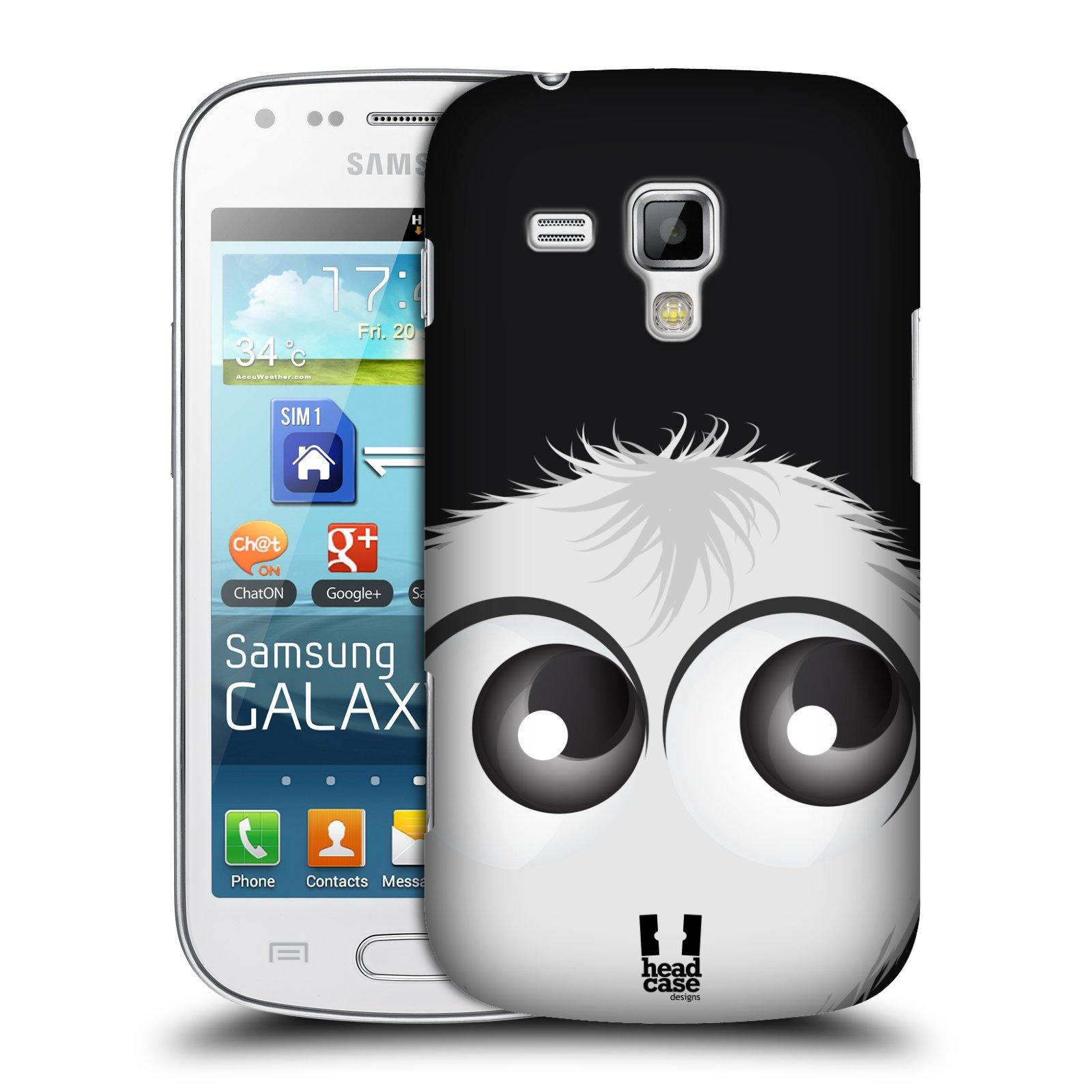 Plastové pouzdro na mobil Samsung Galaxy S Duos HEAD CASE FUZÍK BÍLÝ (Kryt či obal na mobilní telefon Samsung Galaxy S Duos GT-S7562)