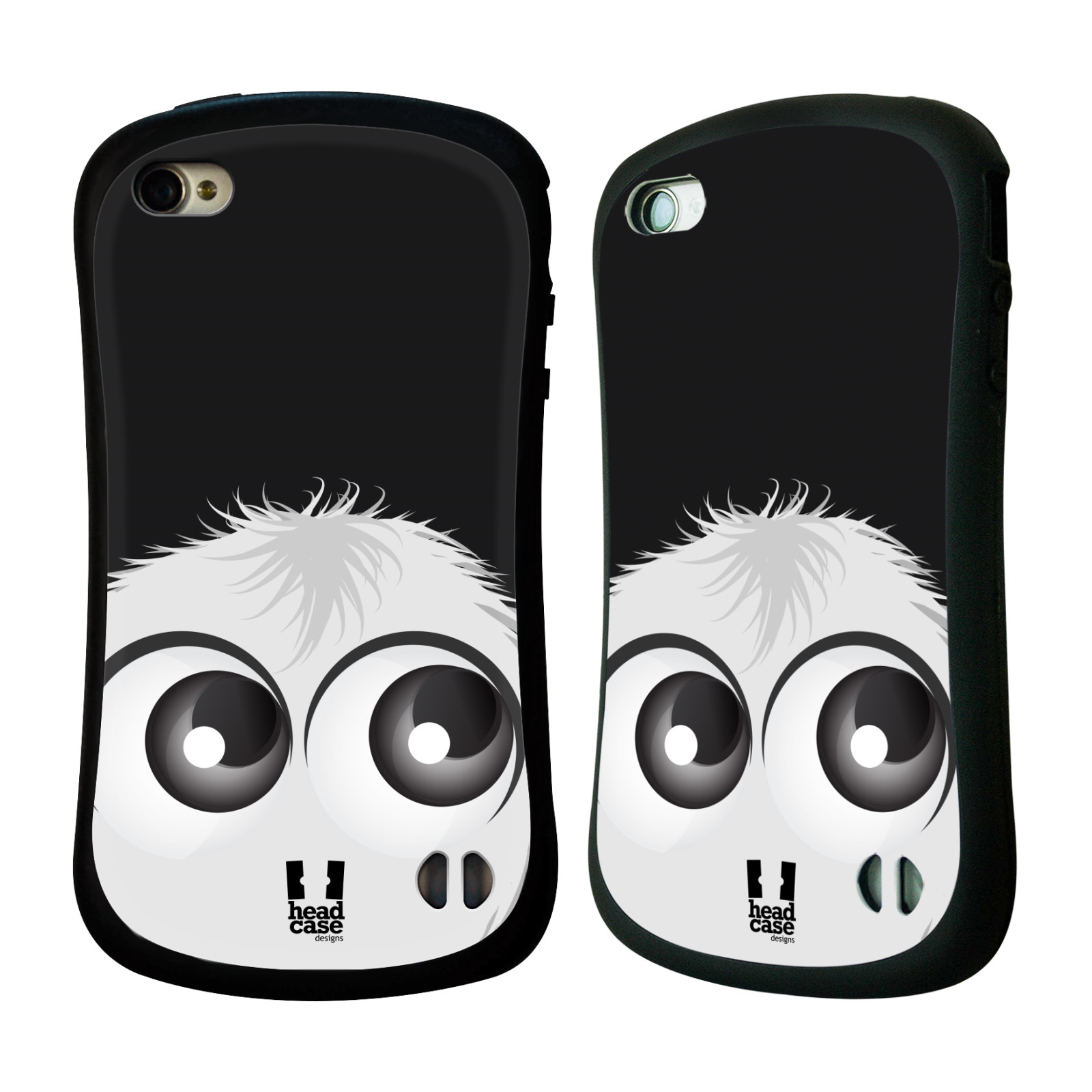 Nárazuvzdorné pouzdro na mobil Apple iPhone 4 a 4S HEAD CASE FUZÍK BÍLÝ (Odolný nárazuvzdorný silikonový kryt či obal na mobilní telefon Apple iPhone 4 a 4S)