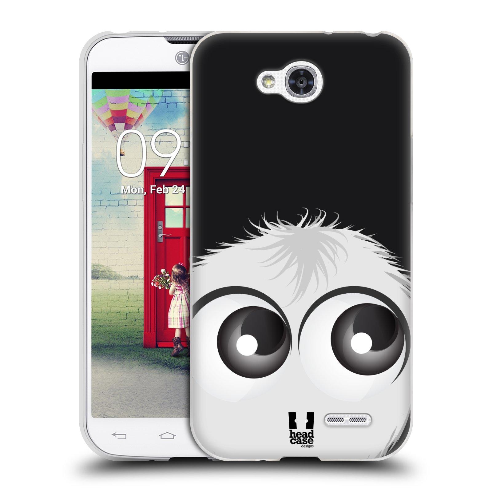 Silikonové pouzdro na mobil LG L90 HEAD CASE FUZÍK BÍLÝ (Silikonový kryt či obal na mobilní telefon LG L90 D405n)