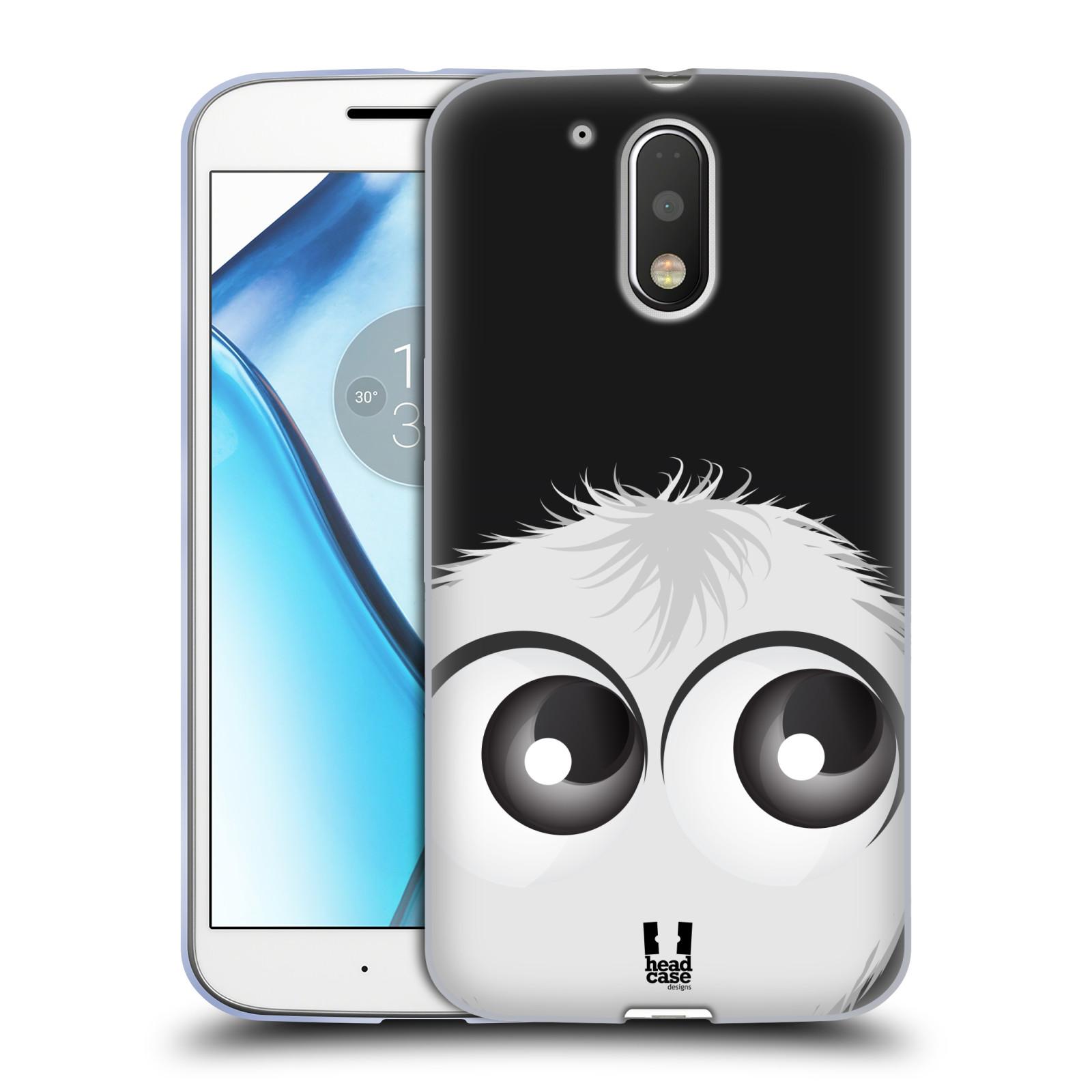 Silikonové pouzdro na mobil Lenovo Moto G4 HEAD CASE FUZÍK BÍLÝ (Silikonový kryt či obal na mobilní telefon Lenovo Moto G4 (Single a Dual SIM))