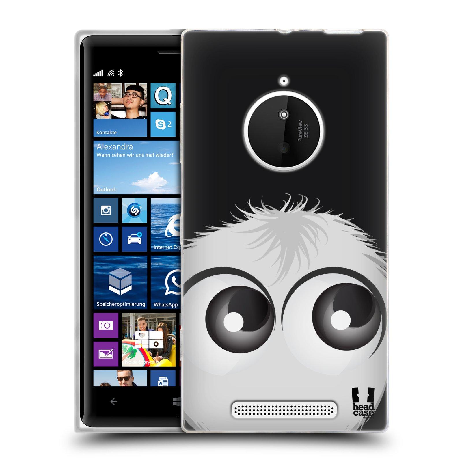 Silikonové pouzdro na mobil Nokia Lumia 830 HEAD CASE FUZÍK BÍLÝ (Silikonový kryt či obal na mobilní telefon Nokia Lumia 830)
