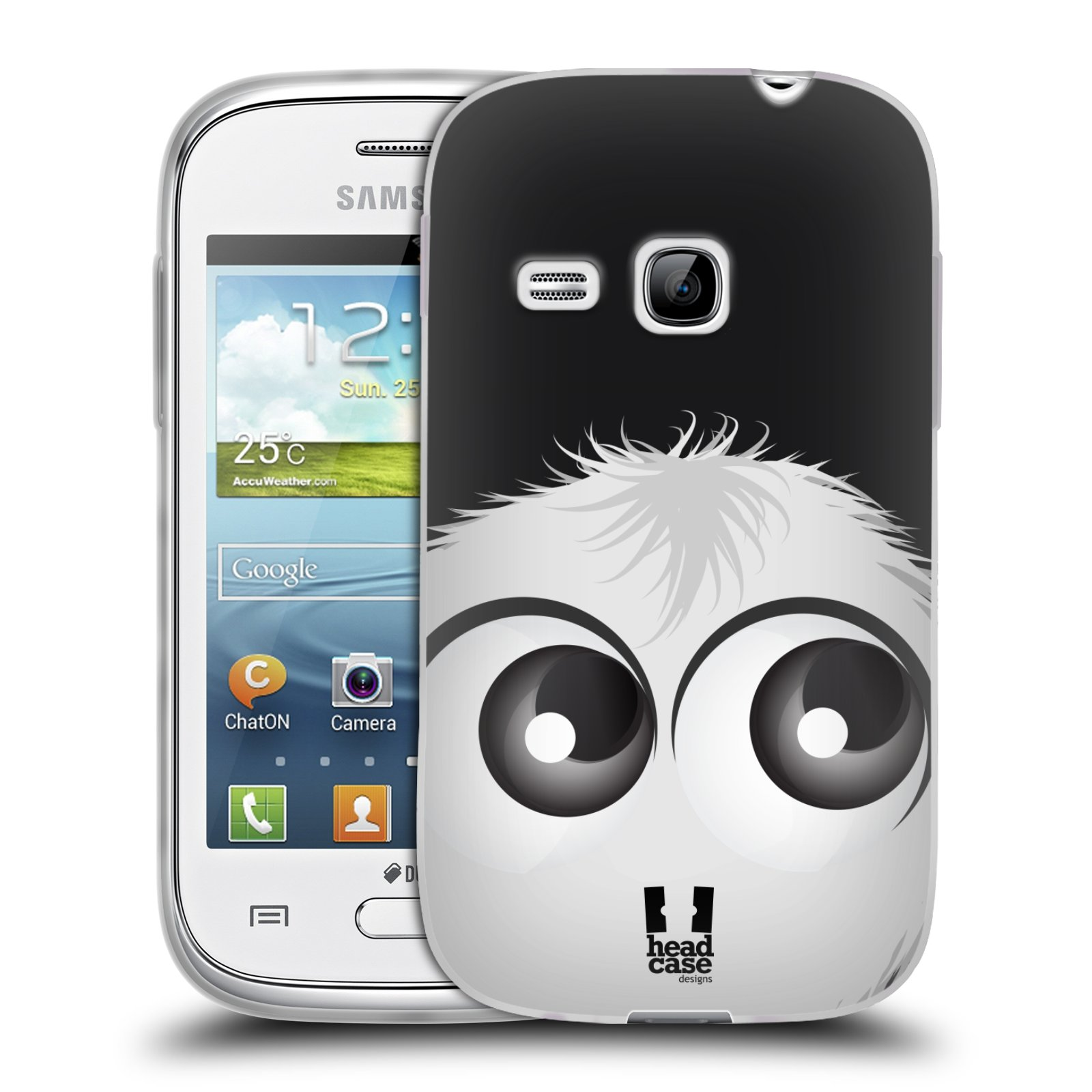 Silikonové pouzdro na mobil Samsung Galaxy Young HEAD CASE FUZÍK BÍLÝ (Silikonový kryt či obal na mobilní telefon Samsung Galaxy Young GT-S6310)