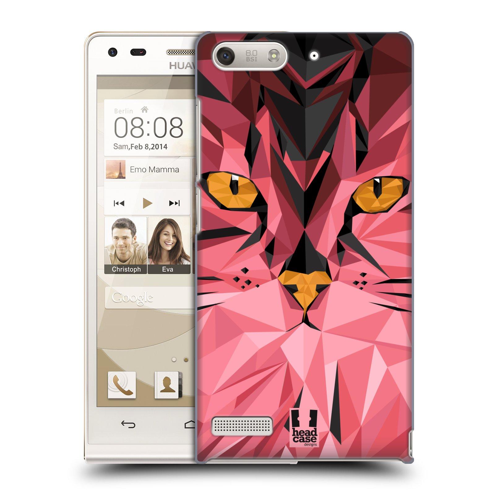Plastové pouzdro na mobil Huawei Ascend G6 HEAD CASE GEOMETRIC KOČKA (Kryt či obal na mobilní telefon Huawei Ascend G6 bez LTE)