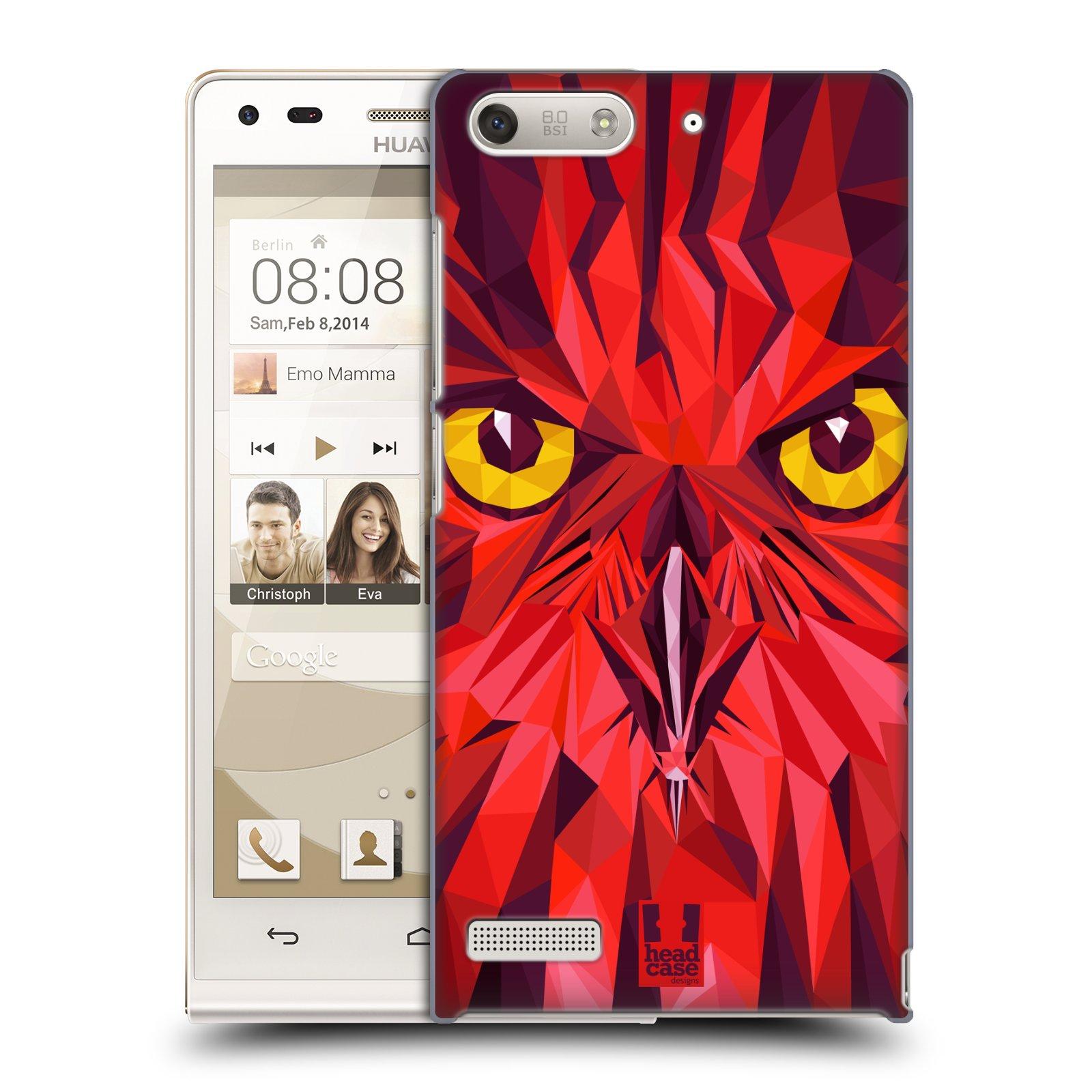 Plastové pouzdro na mobil Huawei Ascend G6 HEAD CASE GEOMETRIC SOVA (Kryt či obal na mobilní telefon Huawei Ascend G6 bez LTE)