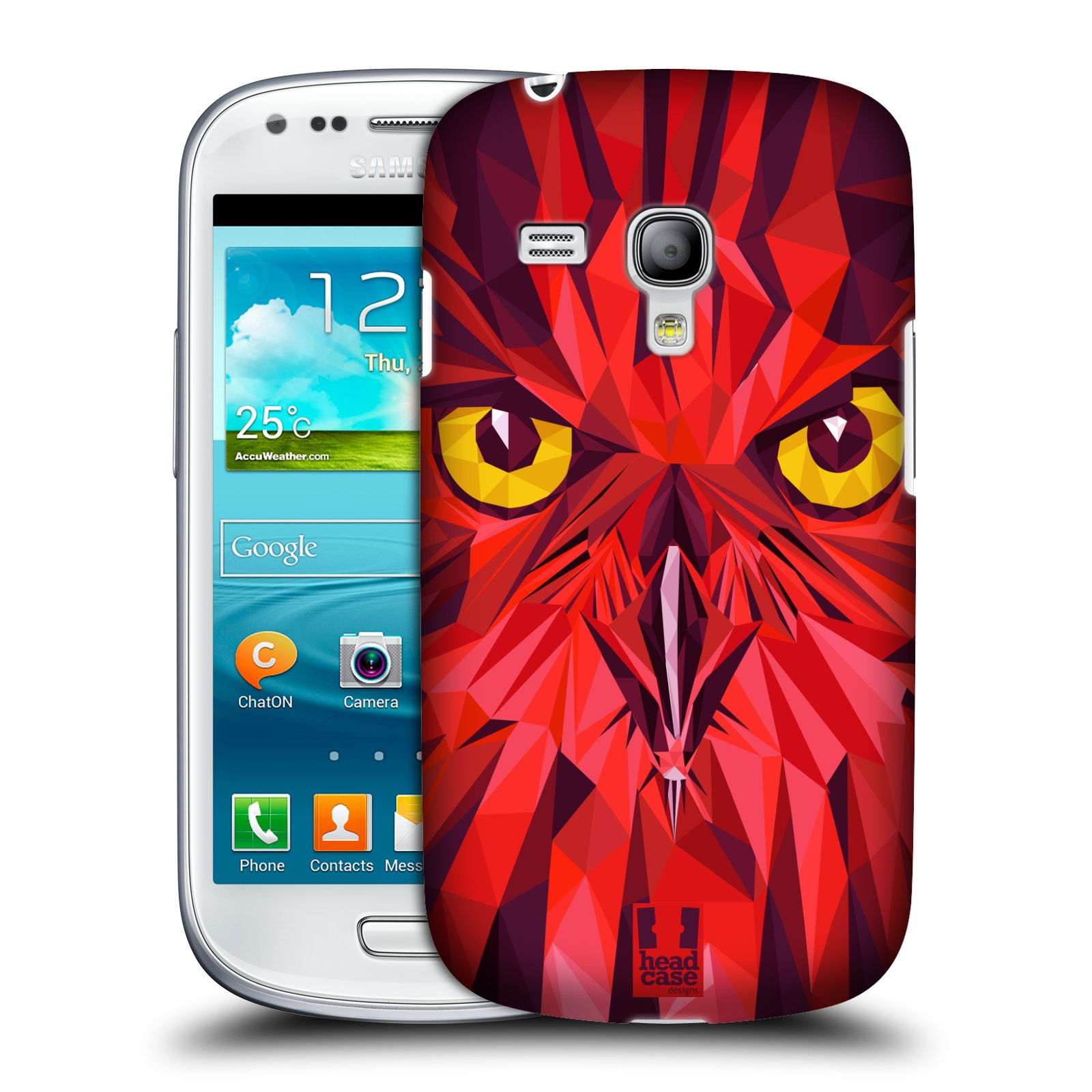 Plastové pouzdro na mobil Samsung Galaxy S3 Mini VE HEAD CASE GEOMETRIC SOVA (Kryt či obal na mobilní telefon Samsung Galaxy S3 Mini VE GT-i8200)