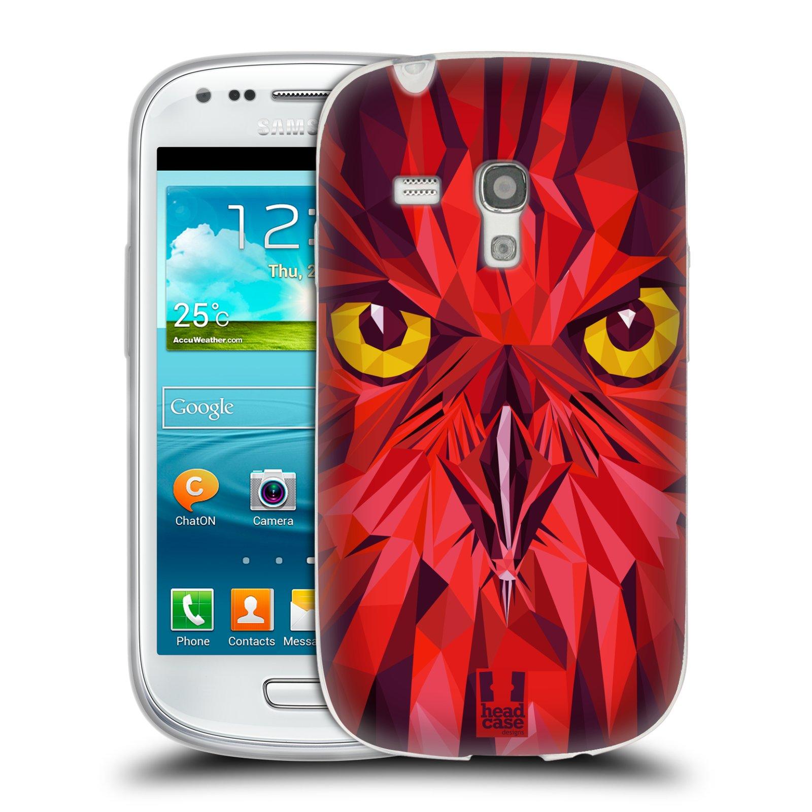Silikonové pouzdro na mobil Samsung Galaxy S3 Mini VE HEAD CASE GEOMETRIC SOVA (Silikonový kryt či obal na mobilní telefon Samsung Galaxy S3 Mini VE GT-i8200)