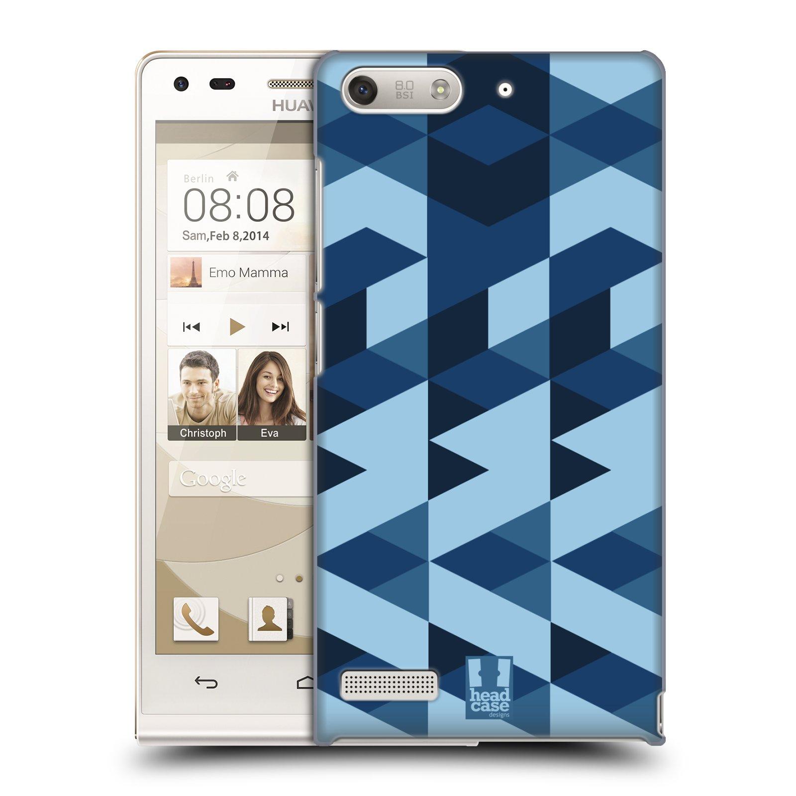Plastové pouzdro na mobil Huawei Ascend G6 HEAD CASE GEOMETRIC BLUE (Kryt či obal na mobilní telefon Huawei Ascend G6 bez LTE)