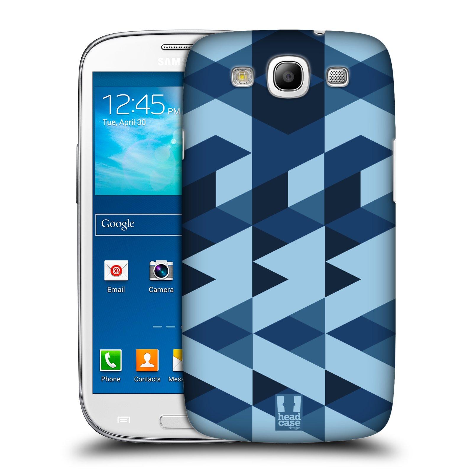 Plastové pouzdro na mobil Samsung Galaxy S3 Neo HEAD CASE GEOMETRIC BLUE (Kryt či obal na mobilní telefon Samsung Galaxy S3 Neo GT-i9301i)