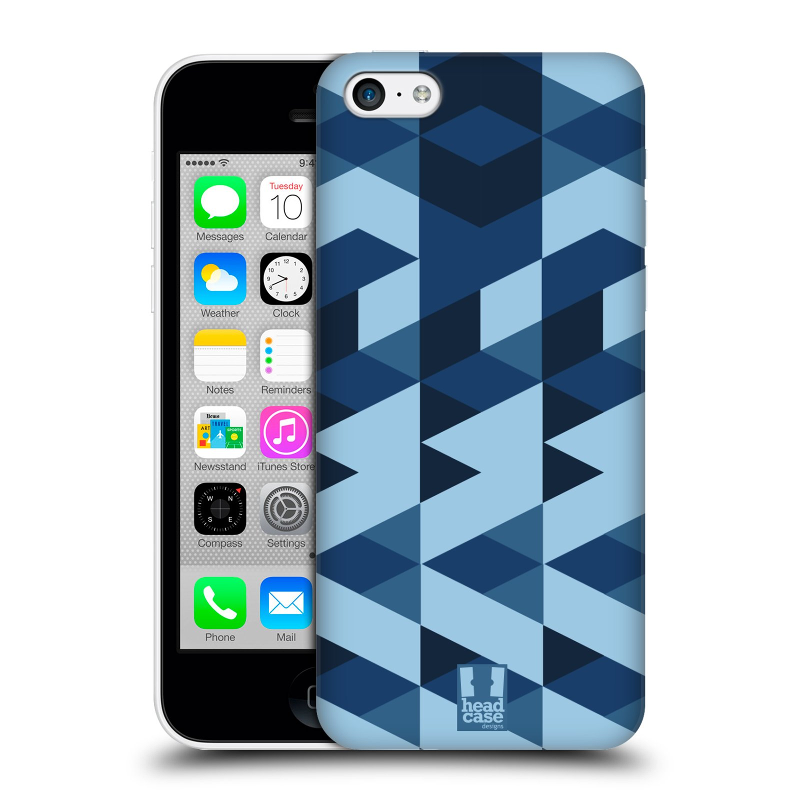 Plastové pouzdro na mobil Apple iPhone 5C HEAD CASE GEOMETRIC BLUE (Kryt či obal na mobilní telefon Apple iPhone 5C)