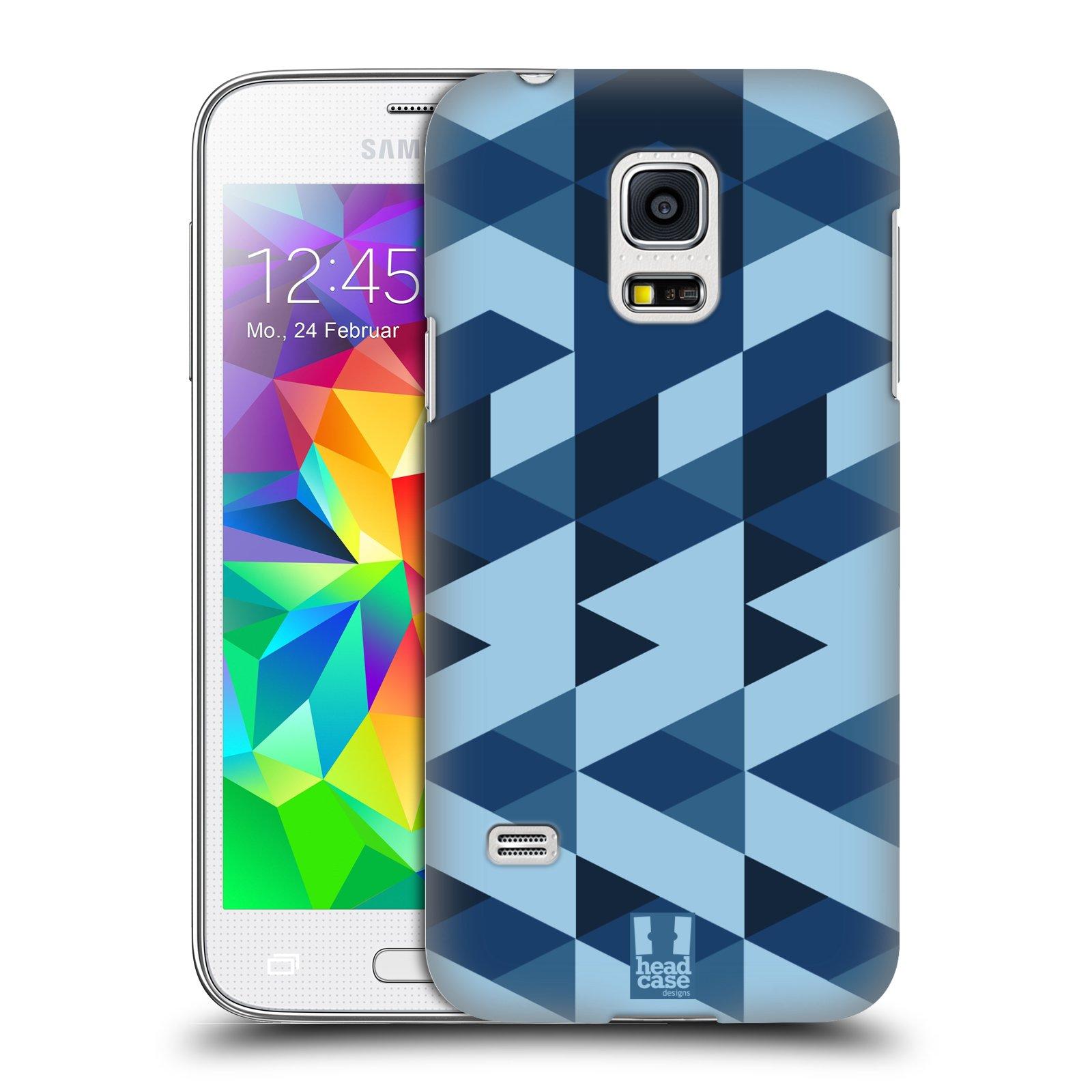 Plastové pouzdro na mobil Samsung Galaxy S5 Mini HEAD CASE GEOMETRIC BLUE (Kryt či obal na mobilní telefon Samsung Galaxy S5 Mini SM-G800F)