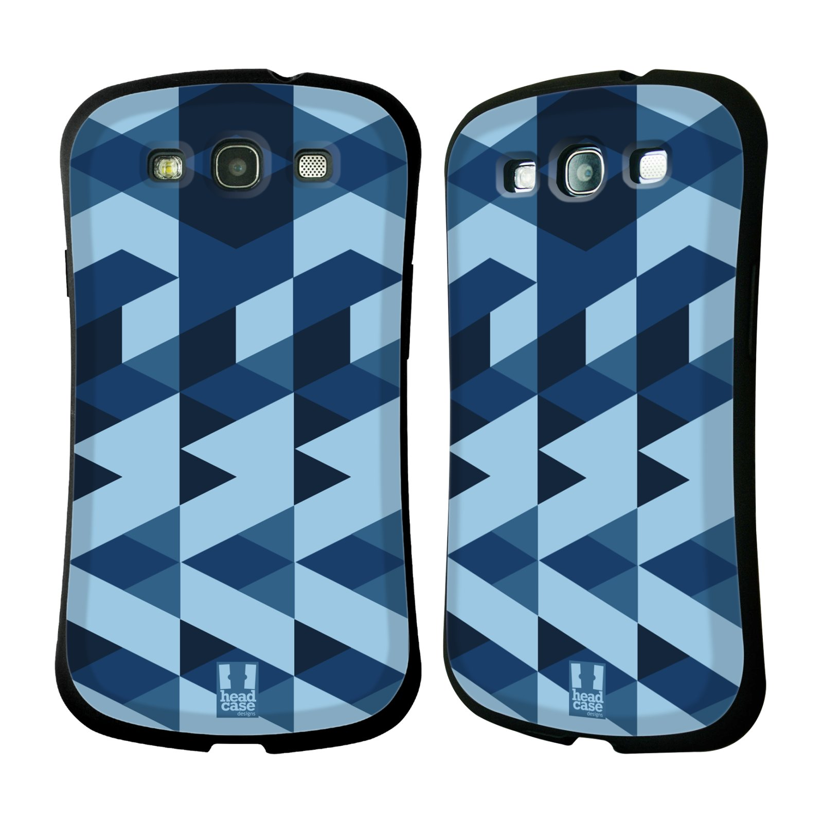Nárazuvzdorné pouzdro na mobil Samsung Galaxy S3 Neo HEAD CASE GEOMETRIC BLUE (Odolný nárazuvzdorný silikonový kryt či obal na mobilní telefon Samsung Galaxy S3 Neo GT-i9301i)