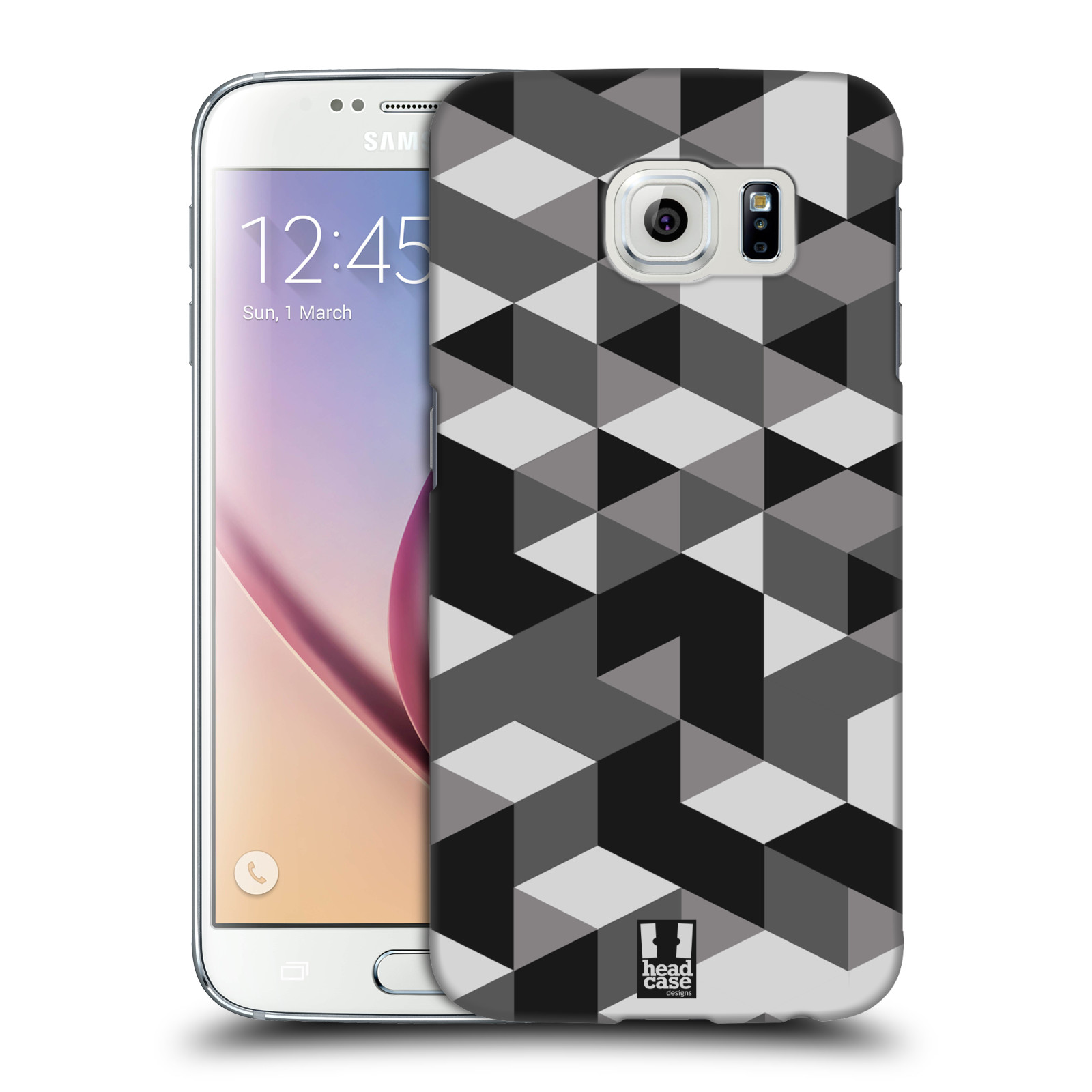 Plastové pouzdro na mobil Samsung Galaxy S6 HEAD CASE GEOMETRIC GRAY