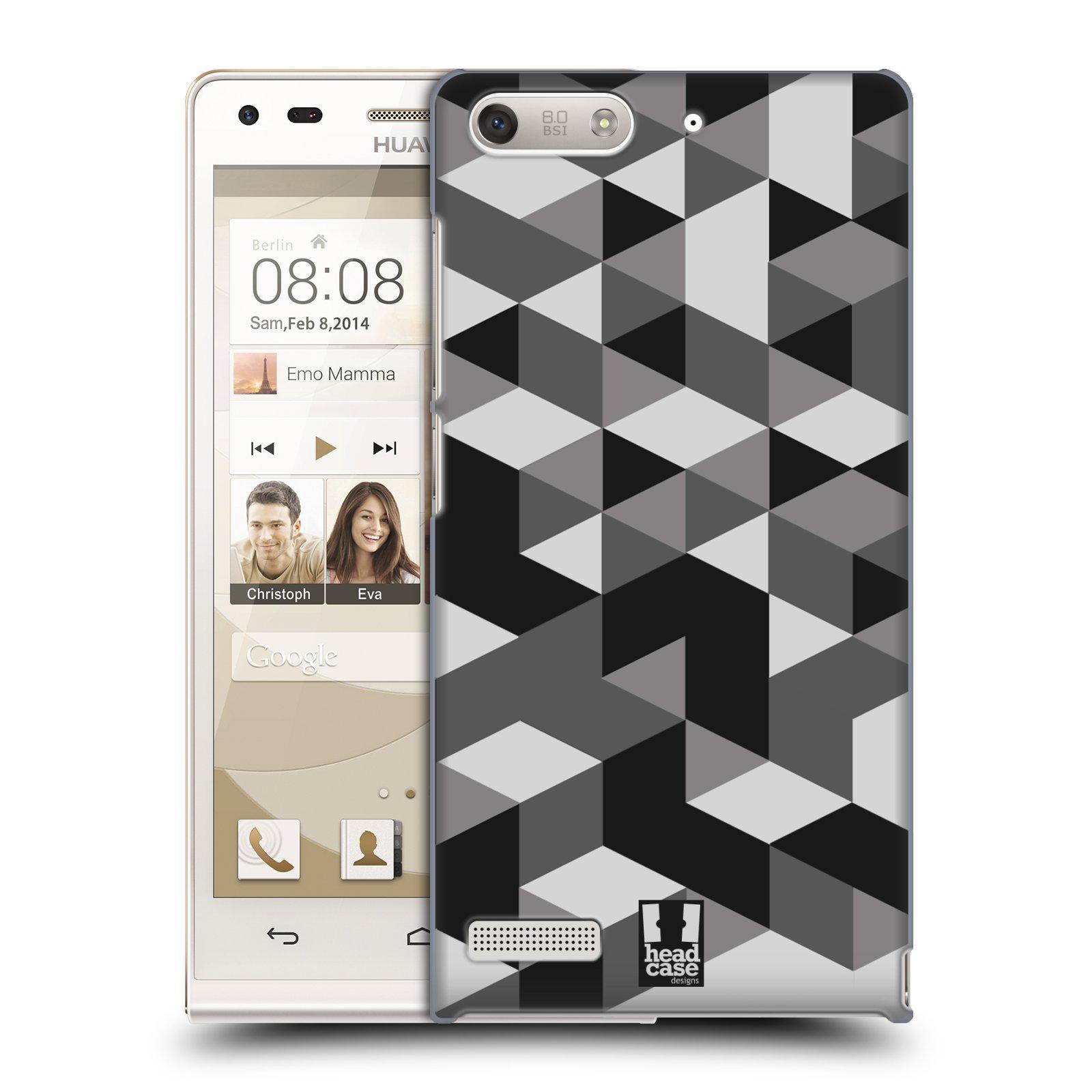 Plastové pouzdro na mobil Huawei Ascend G6 HEAD CASE GEOMETRIC GRAY (Kryt či obal na mobilní telefon Huawei Ascend G6 bez LTE)