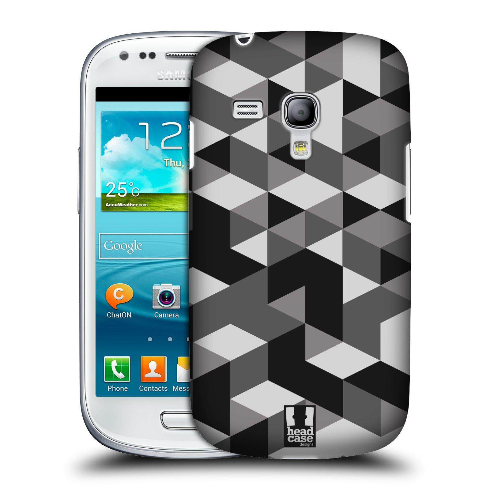 Plastové pouzdro na mobil Samsung Galaxy S III Mini HEAD CASE GEOMETRIC GRAY (Kryt či obal na mobilní telefon Samsung Galaxy S III Mini GT-i8190)