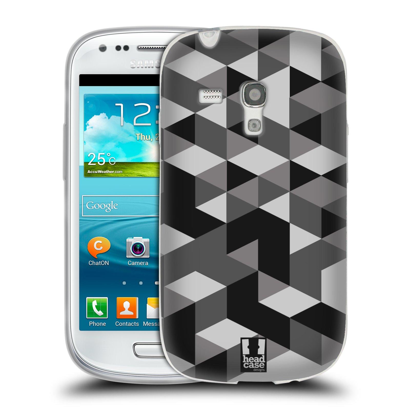 Silikonové pouzdro na mobil Samsung Galaxy S III Mini HEAD CASE GEOMETRIC GRAY (Silikonový kryt či obal na mobilní telefon Samsung Galaxy S III Mini GT-i8190)