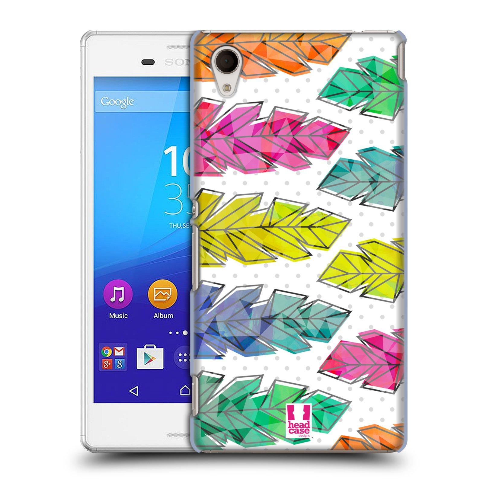 Plastové pouzdro na mobil Sony Xperia M4 Aqua E2303 HEAD CASE PÍRKA DOODLE (Kryt či obal na mobilní telefon Sony Xperia M4 Aqua a M4 Aqua Dual SIM)
