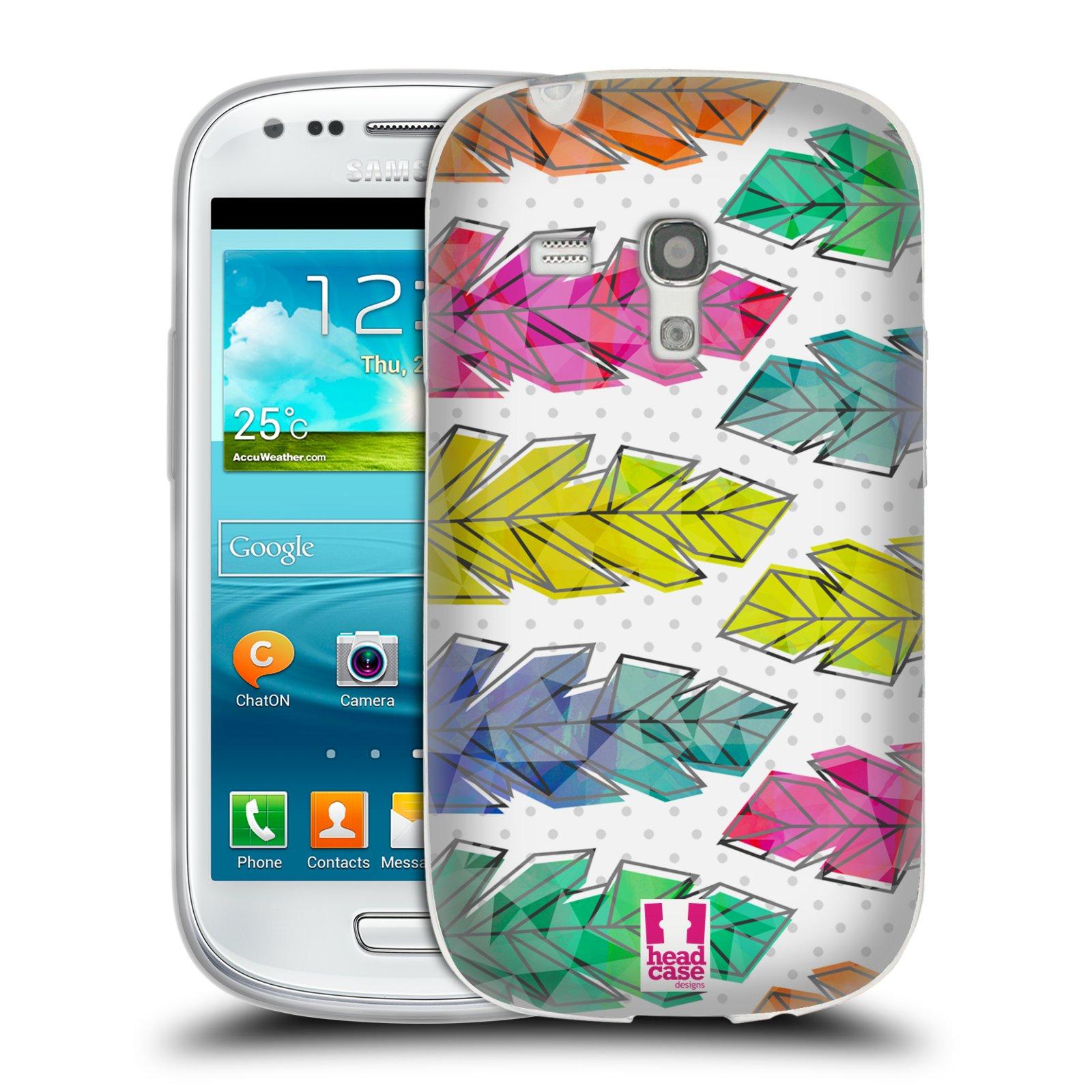 Silikonové pouzdro na mobil Samsung Galaxy S III Mini HEAD CASE PÍRKA DOODLE (Silikonový kryt či obal na mobilní telefon Samsung Galaxy S III Mini GT-i8190)