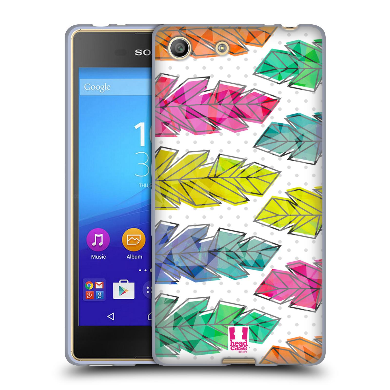 Silikonové pouzdro na mobil Sony Xperia M5 HEAD CASE PÍRKA DOODLE (Silikonový kryt či obal na mobilní telefon Sony Xperia M5 Dual SIM / Aqua)