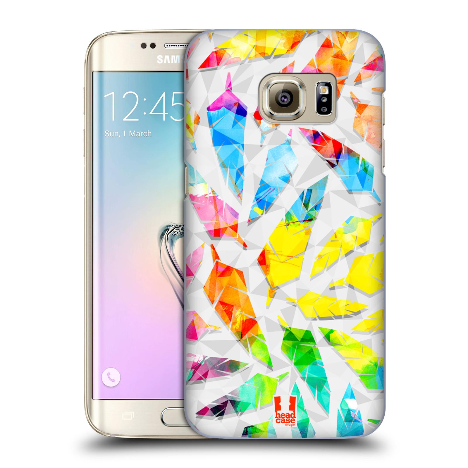 Plastové pouzdro na mobil Samsung Galaxy S7 Edge HEAD CASE PÍRKA WATERCOLOUR (Kryt či obal na mobilní telefon Samsung Galaxy S7 Edge SM-G935F)