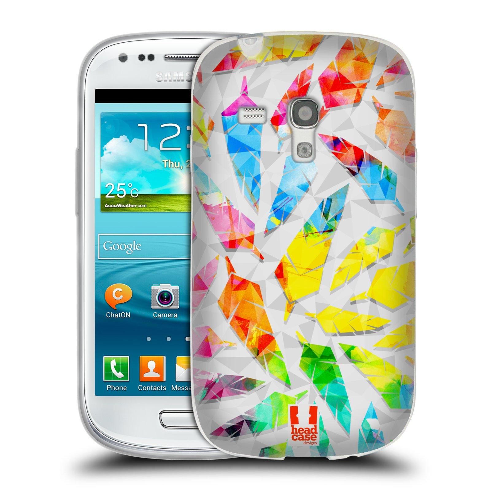 Silikonové pouzdro na mobil Samsung Galaxy S III Mini HEAD CASE PÍRKA WATERCOLOUR (Silikonový kryt či obal na mobilní telefon Samsung Galaxy S III Mini GT-i8190)