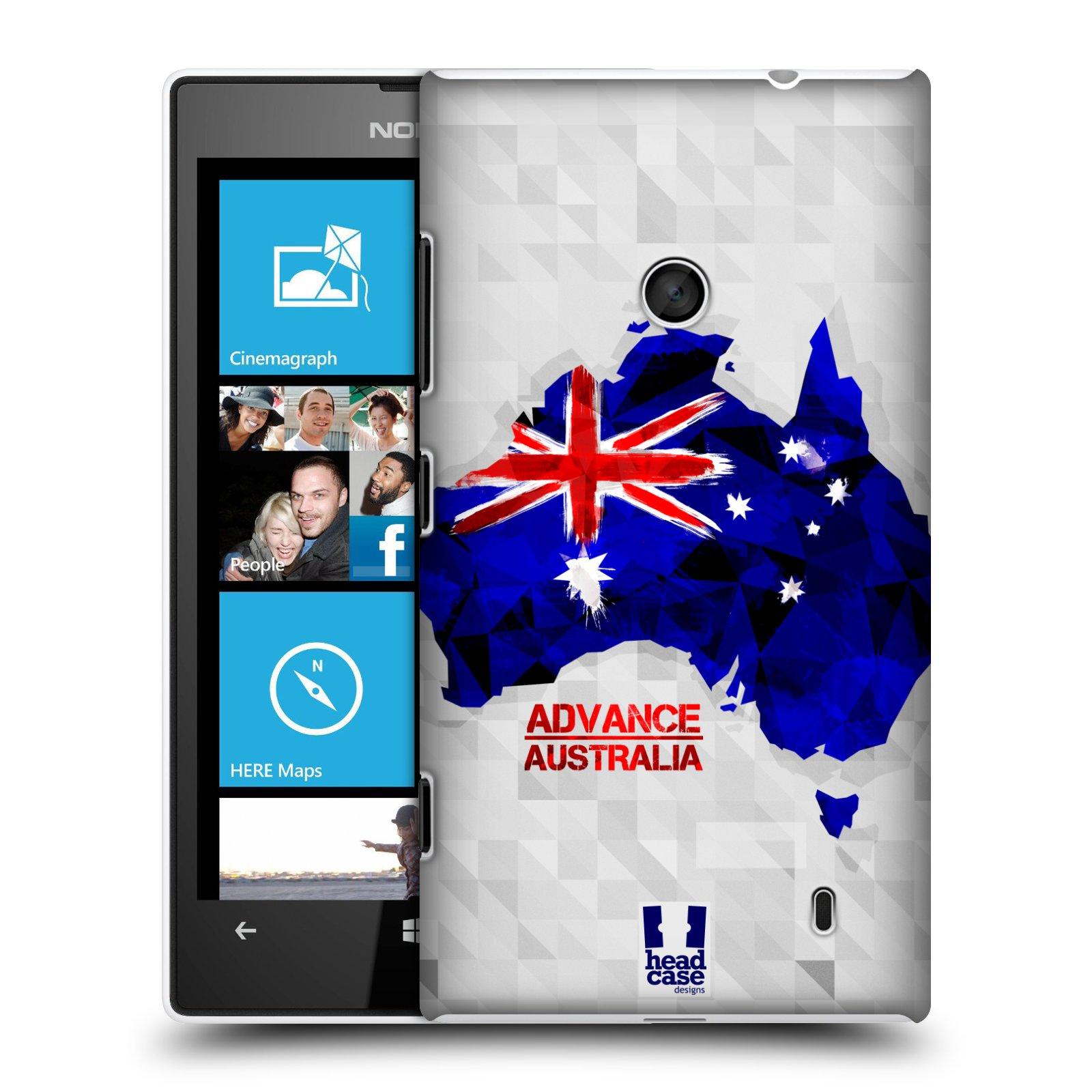 Plastové pouzdro na mobil Nokia Lumia 520 HEAD CASE GEOMAPA AUSTRÁLIE (Kryt či obal na mobilní telefon Nokia Lumia 520 )