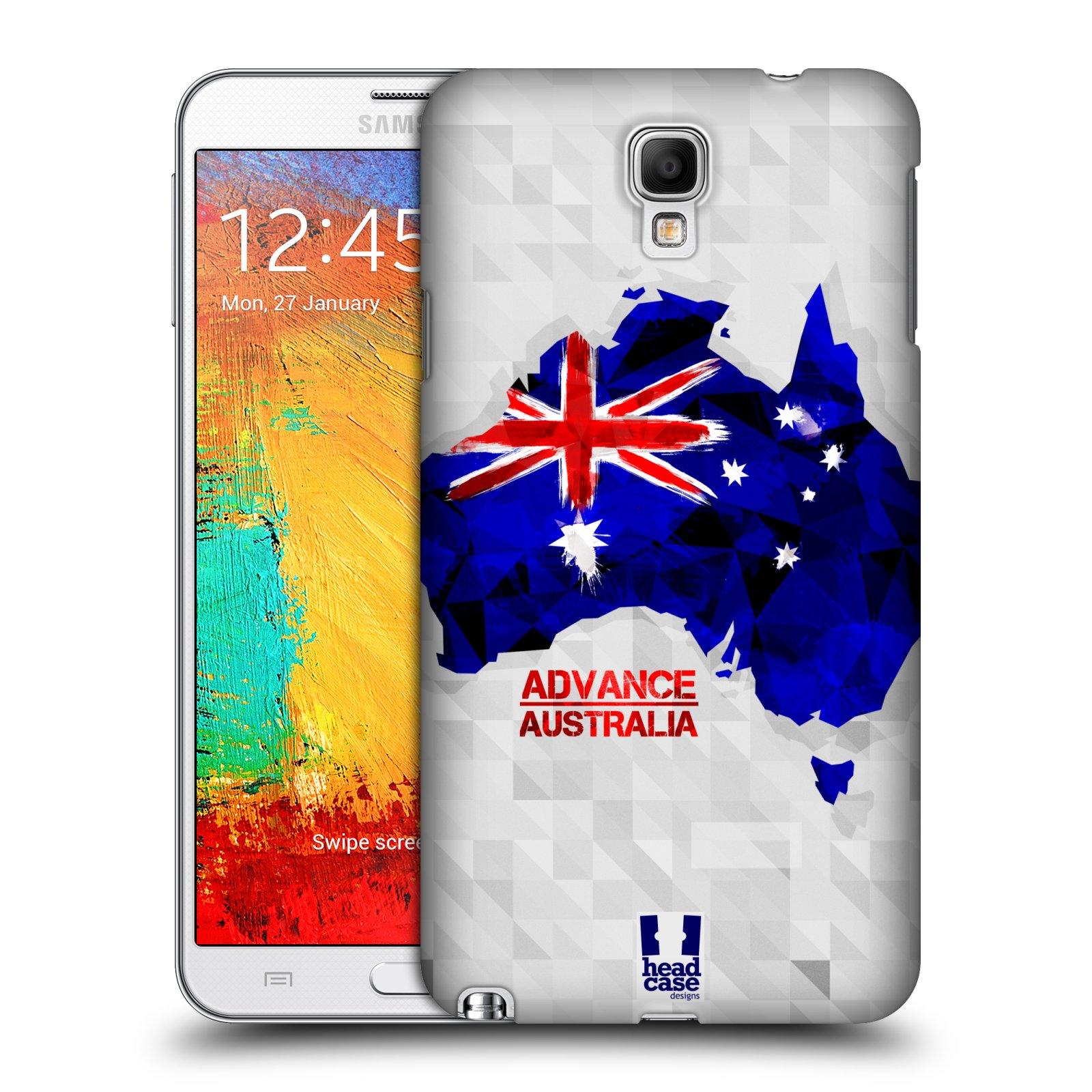 Plastové pouzdro na mobil Samsung Galaxy Note 3 Neo HEAD CASE GEOMAPA AUSTRÁLIE (Kryt či obal na mobilní telefon Samsung Galaxy Note 3 Neo SM-N7505)