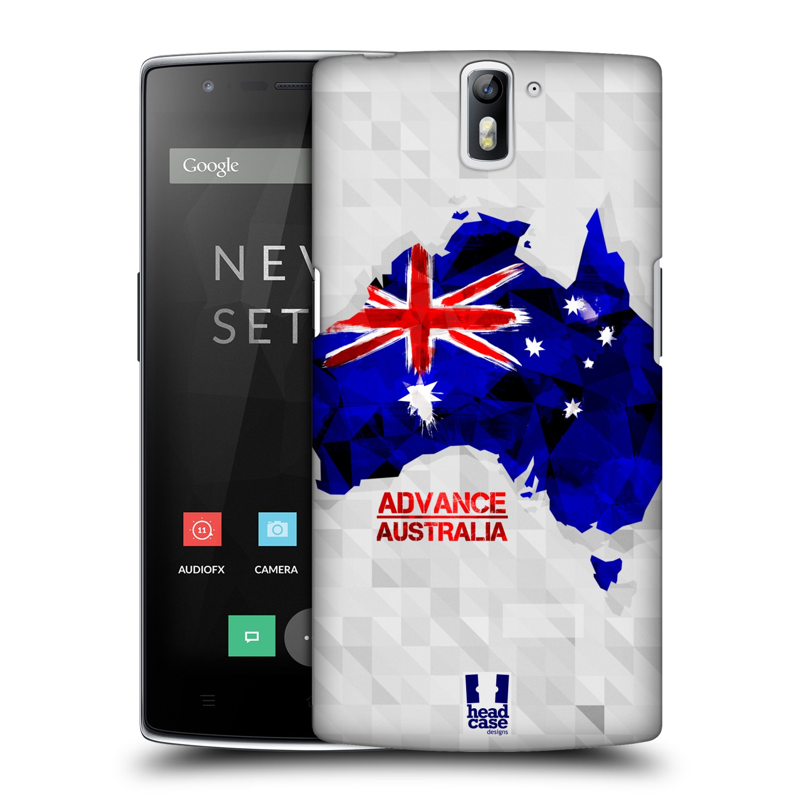 Plastové pouzdro na mobil OnePlus One HEAD CASE GEOMAPA AUSTRÁLIE (Kryt či obal na mobilní telefon OnePlus One)