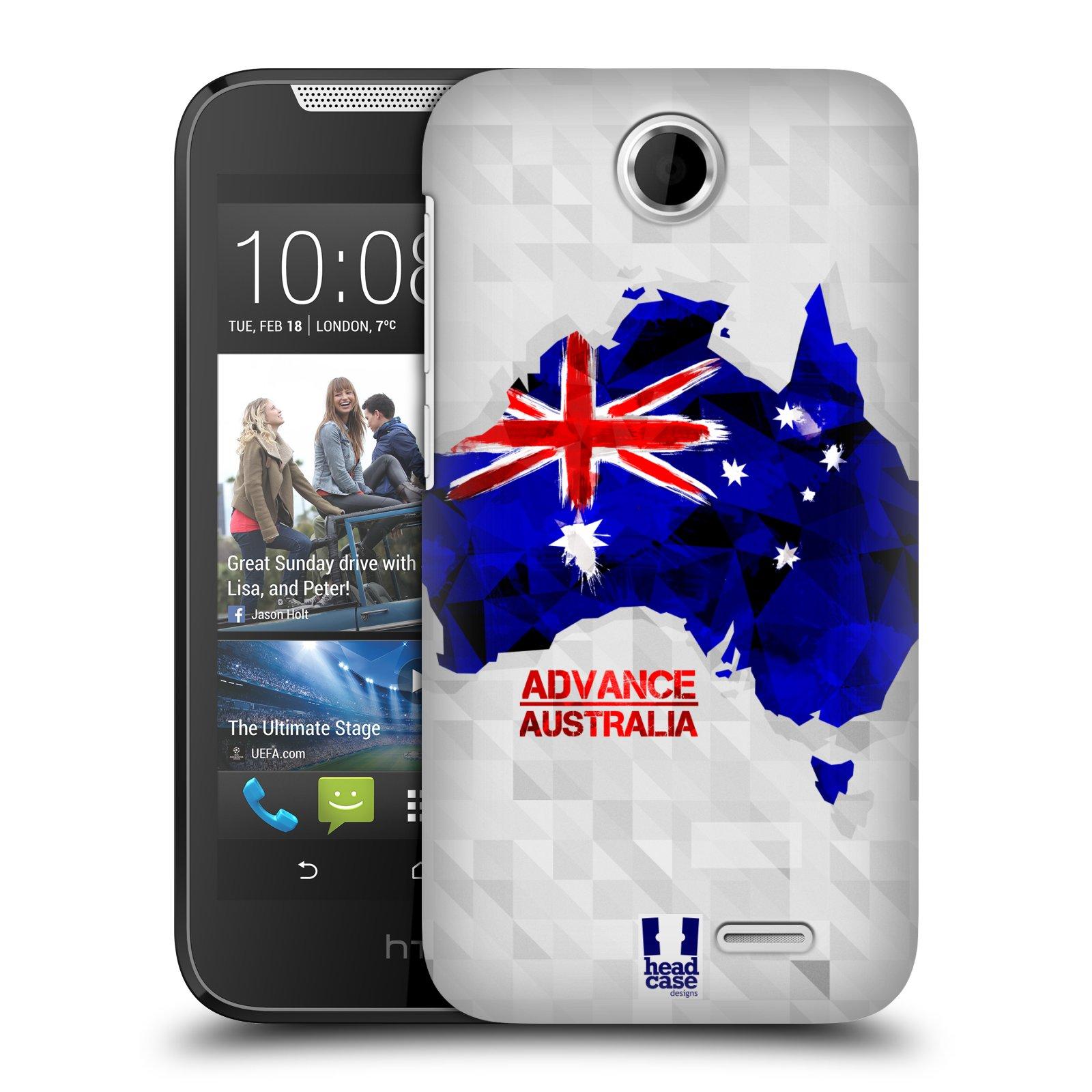 Plastové pouzdro na mobil HTC Desire 310 HEAD CASE GEOMAPA AUSTRÁLIE (Kryt či obal na mobilní telefon HTC Desire 310)