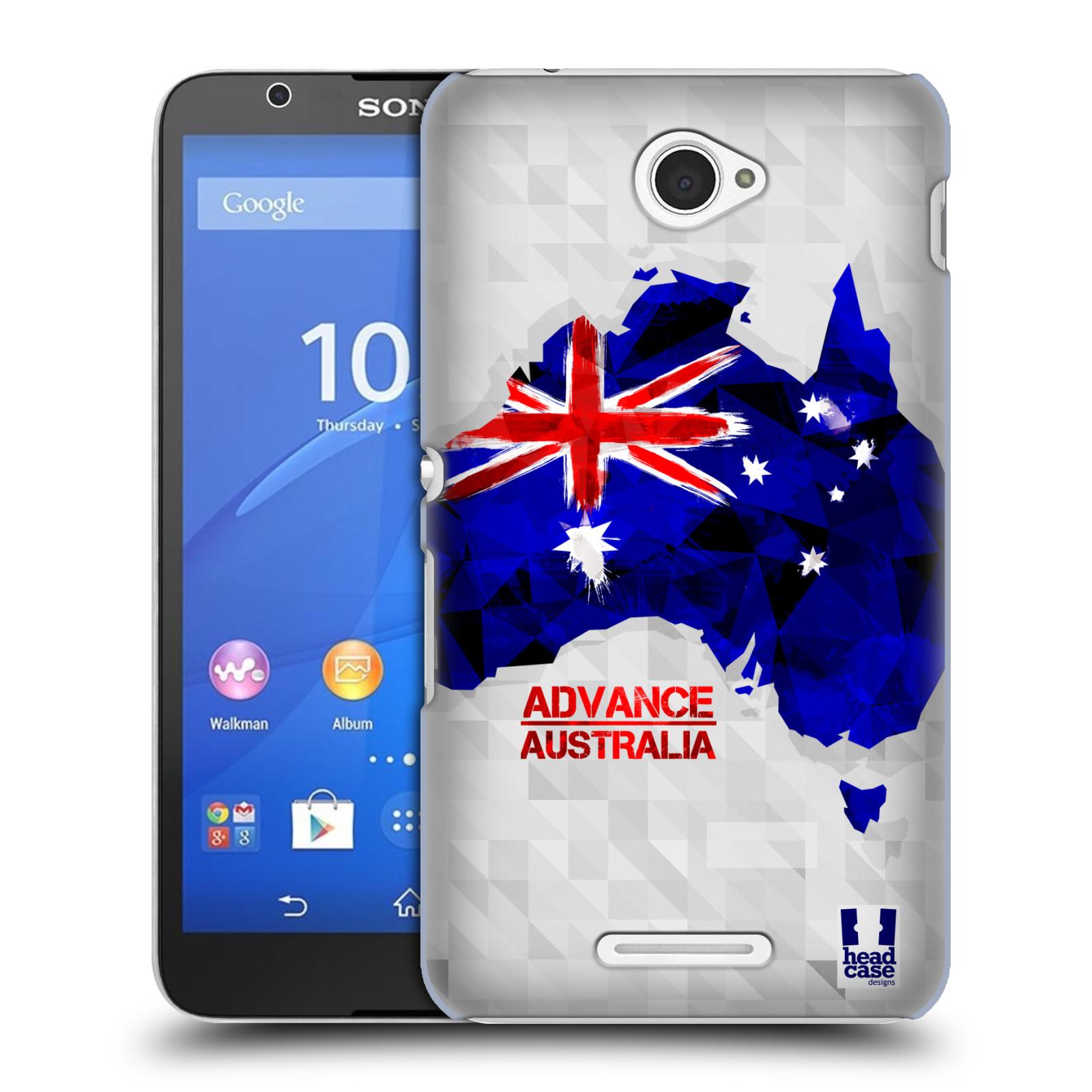Plastové pouzdro na mobil Sony Xperia E4 E2105 HEAD CASE GEOMAPA AUSTRÁLIE (Kryt či obal na mobilní telefon Sony Xperia E4 a E4 Dual SIM)