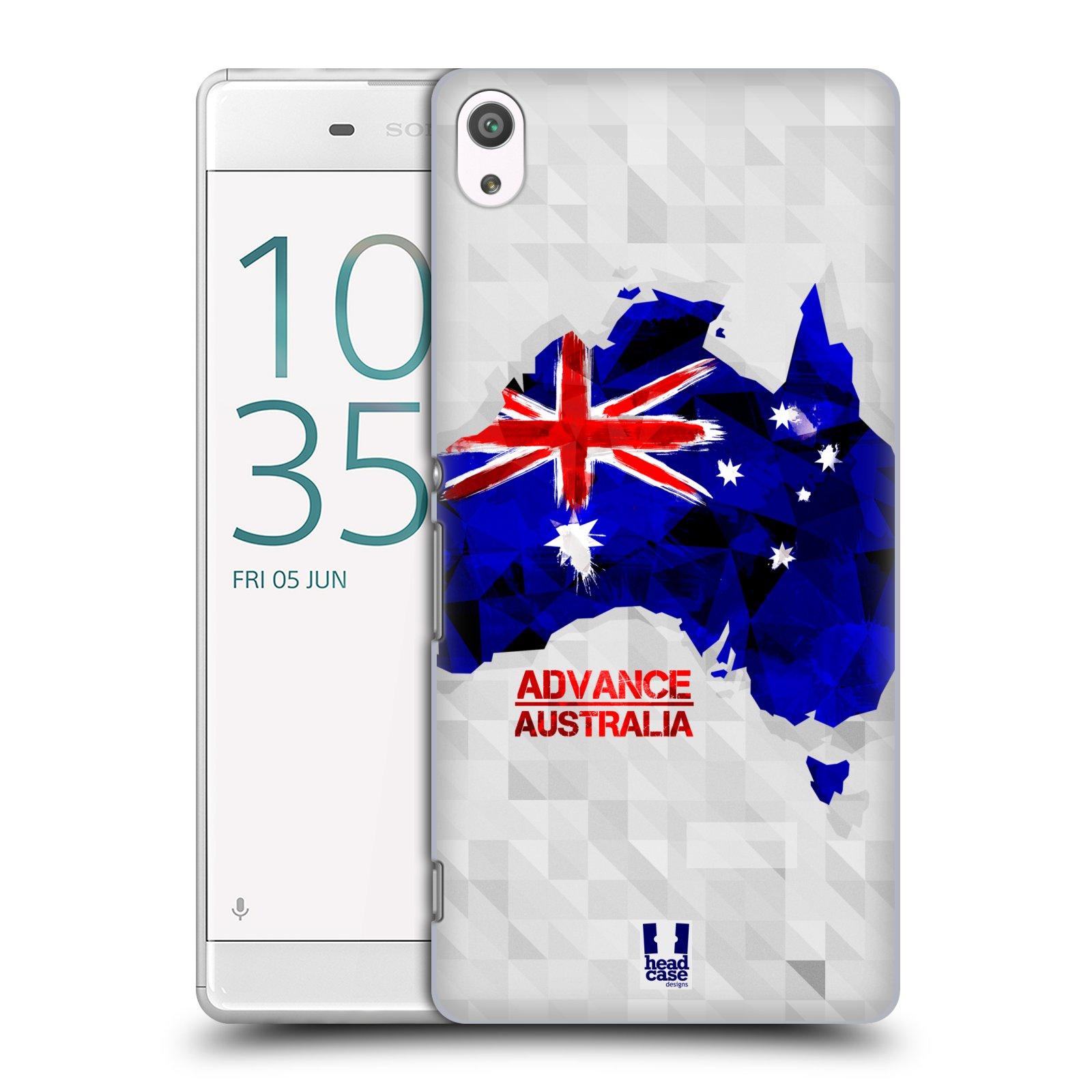 Plastové pouzdro na mobil Sony Xperia XA Ultra HEAD CASE GEOMAPA AUSTRÁLIE (Plastový kryt či obal na mobilní telefon Sony Xperia XA Ultra F3211)