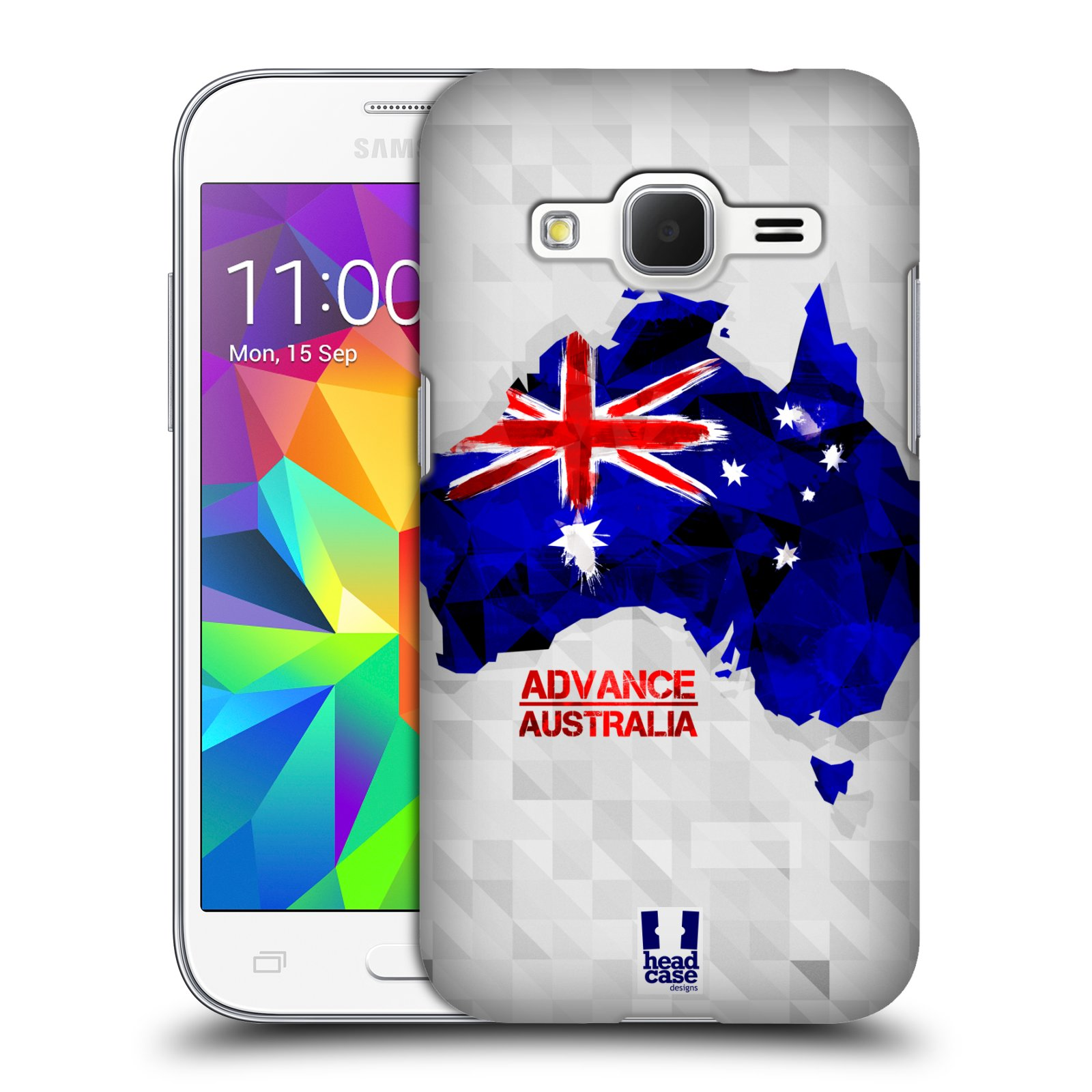 Plastové pouzdro na mobil Samsung Galaxy Core Prime VE HEAD CASE GEOMAPA AUSTRÁLIE (Kryt či obal na mobilní telefon Samsung Galaxy Core Prime LTE VE SM-G361F)