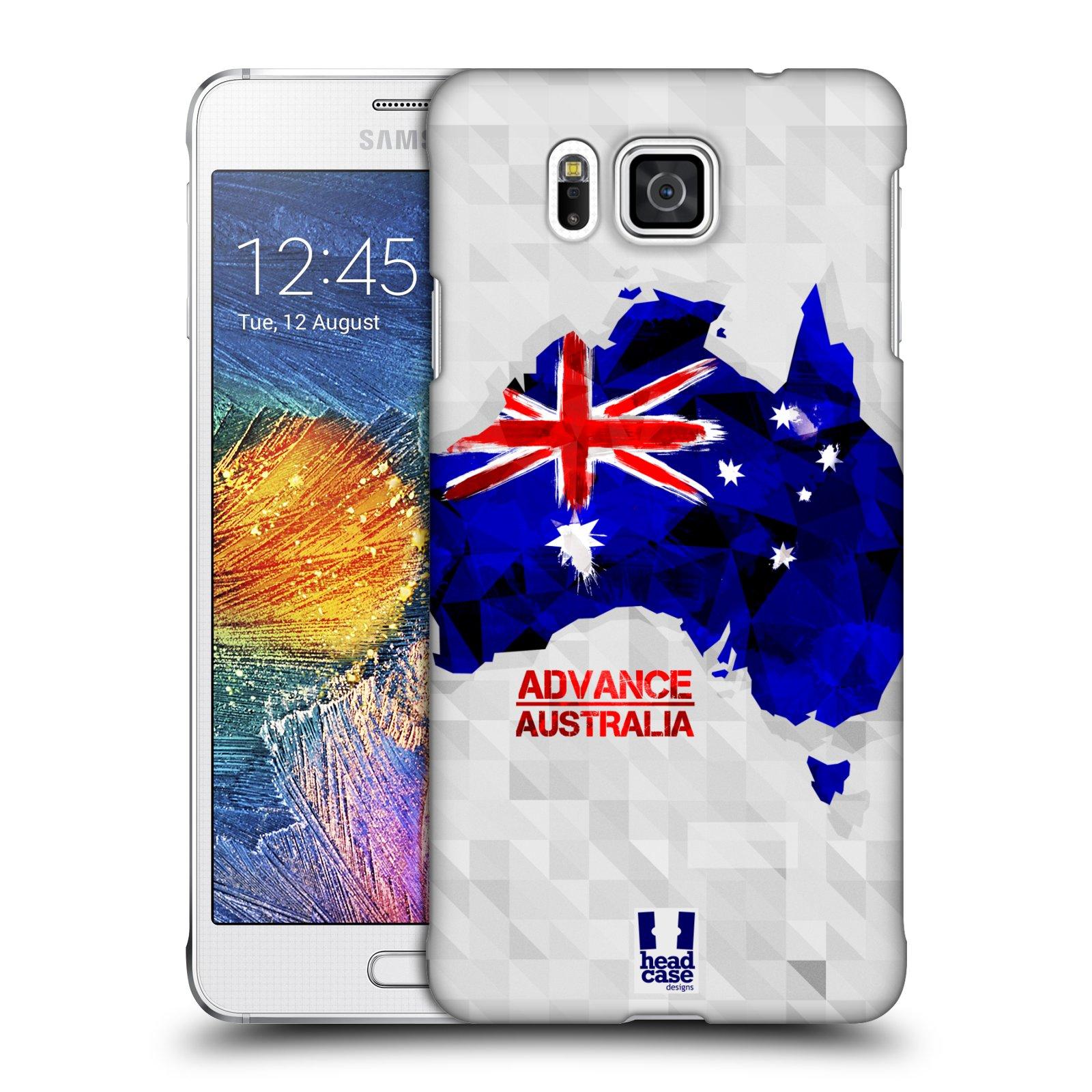 Plastové pouzdro na mobil Samsung Galaxy Alpha HEAD CASE GEOMAPA AUSTRÁLIE (Kryt či obal na mobilní telefon Samsung Galaxy Alpha SM-G850)