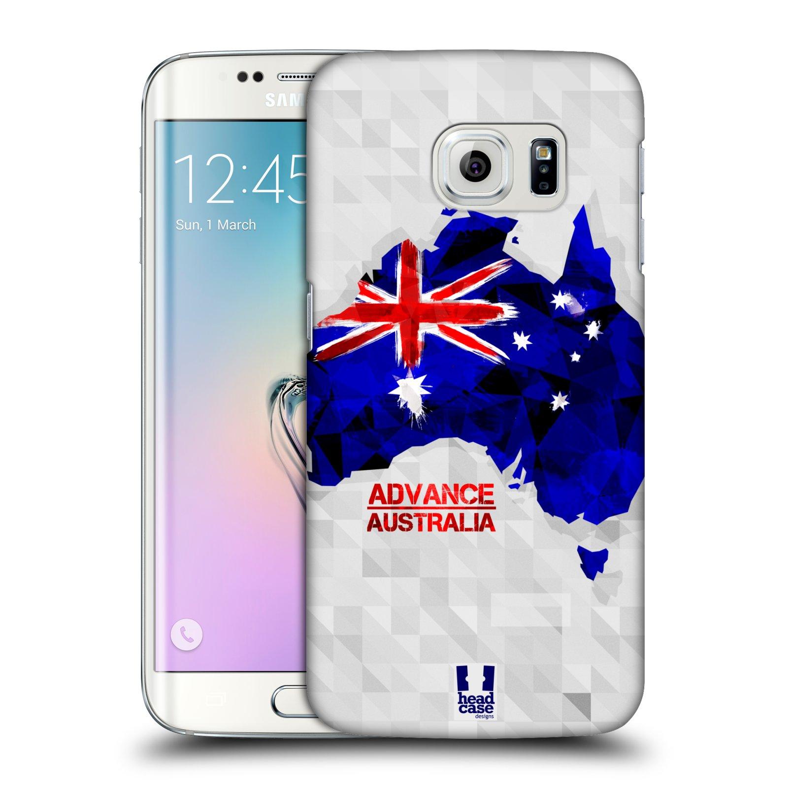 Plastové pouzdro na mobil Samsung Galaxy S6 Edge HEAD CASE GEOMAPA AUSTRÁLIE (Kryt či obal na mobilní telefon Samsung Galaxy S6 Edge SM-G925F)