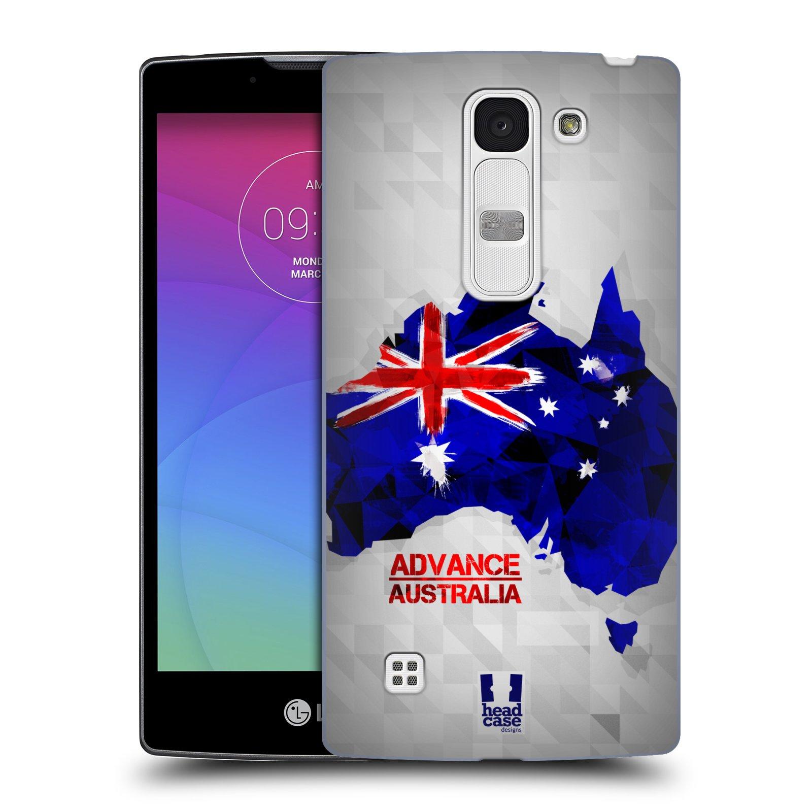 Plastové pouzdro na mobil LG Spirit LTE HEAD CASE GEOMAPA AUSTRÁLIE (Kryt či obal na mobilní telefon LG Spirit H420 a LG Spirit LTE H440N)
