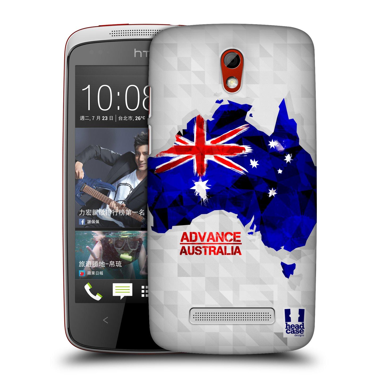 Plastové pouzdro na mobil HTC Desire 500 HEAD CASE GEOMAPA AUSTRÁLIE (Kryt či obal na mobilní telefon HTC Desire 500)