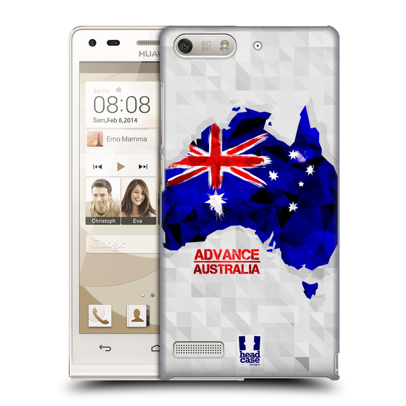 Plastové pouzdro na mobil Huawei Ascend G6 HEAD CASE GEOMAPA AUSTRÁLIE (Kryt či obal na mobilní telefon Huawei Ascend G6 bez LTE)
