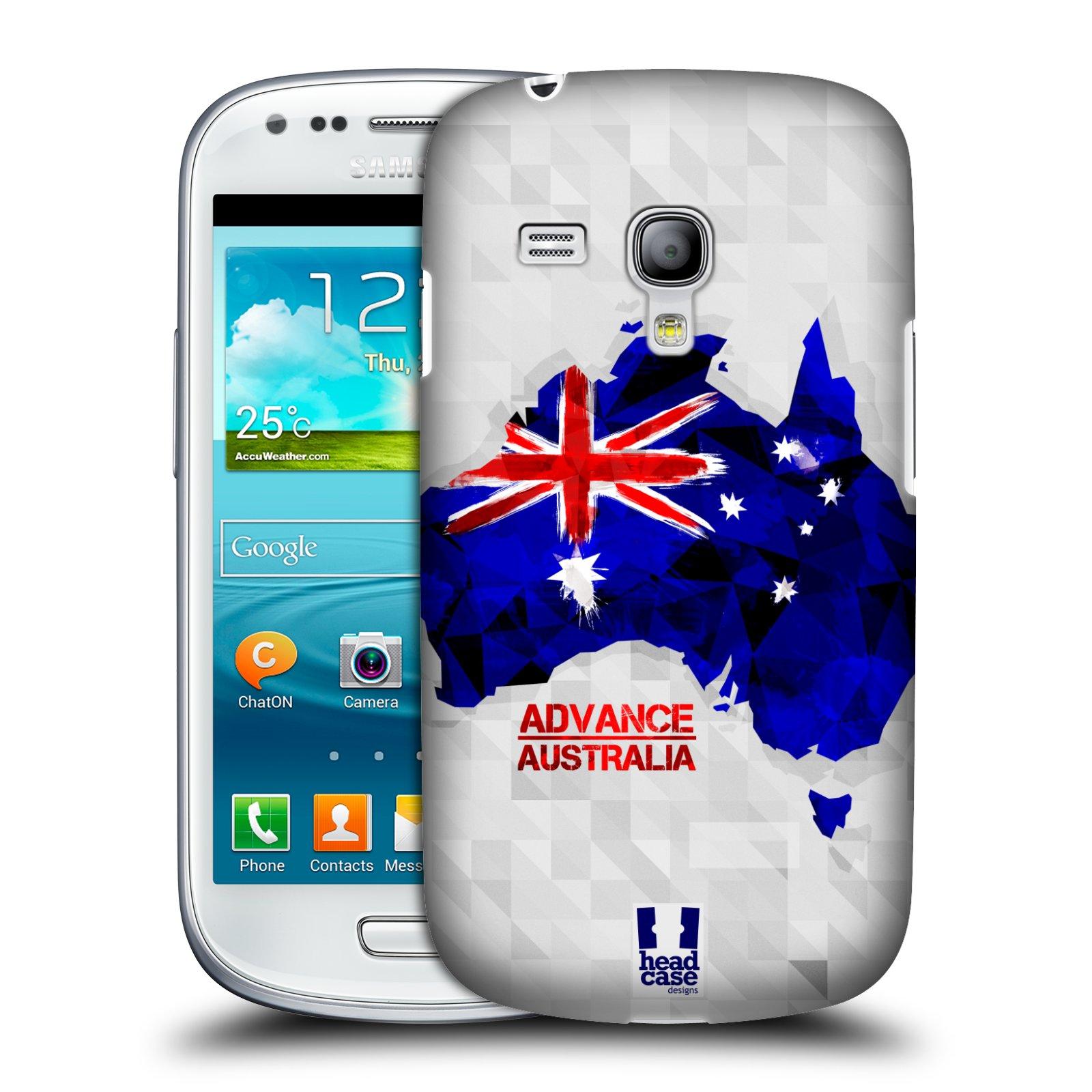 Plastové pouzdro na mobil Samsung Galaxy S III Mini HEAD CASE GEOMAPA AUSTRÁLIE (Kryt či obal na mobilní telefon Samsung Galaxy S III Mini GT-i8190)