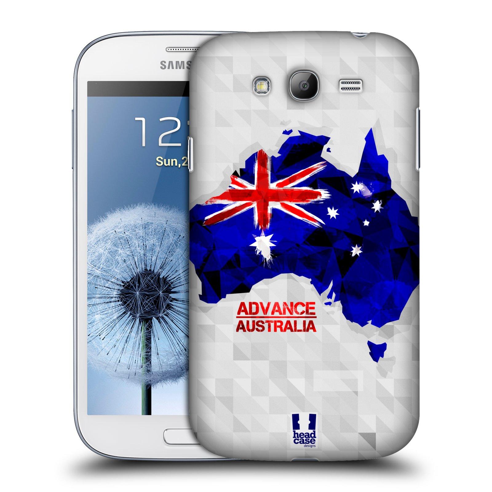 Plastové pouzdro na mobil Samsung Galaxy Grand Neo Plus HEAD CASE GEOMAPA AUSTRÁLIE (Kryt či obal na mobilní telefon Samsung Galaxy Grand Neo Plus GT-i9060i)