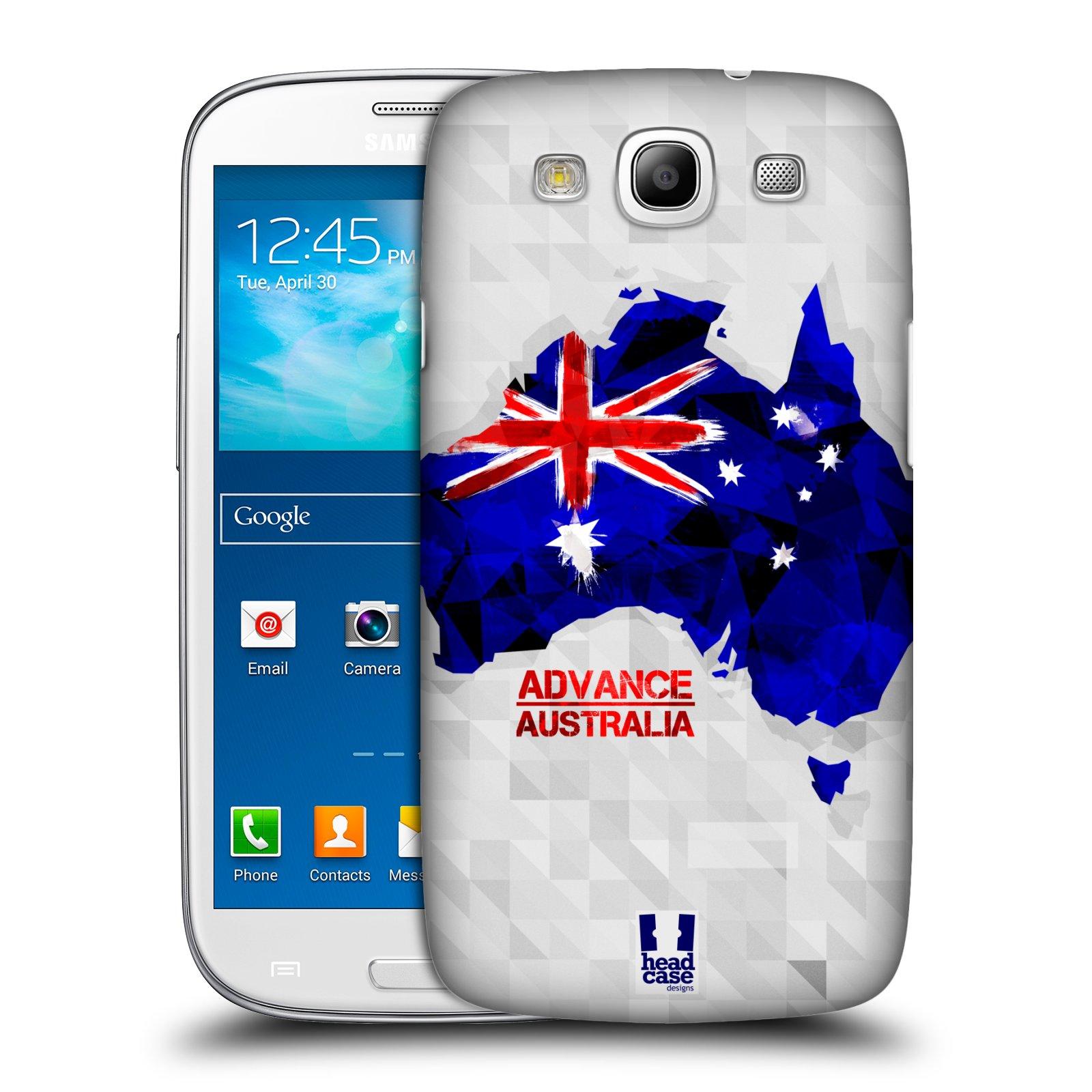 Plastové pouzdro na mobil Samsung Galaxy S3 Neo HEAD CASE GEOMAPA AUSTRÁLIE