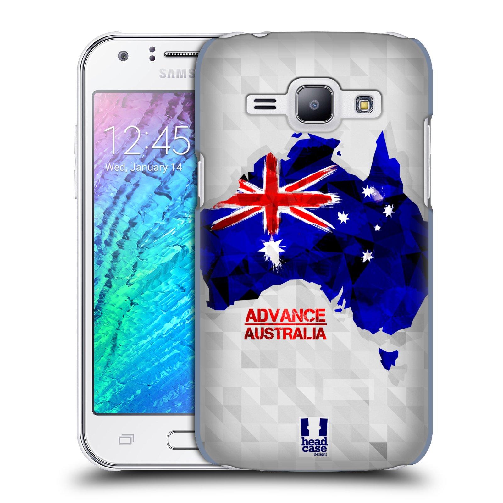 Plastové pouzdro na mobil Samsung Galaxy J1 HEAD CASE GEOMAPA AUSTRÁLIE (Kryt či obal na mobilní telefon Samsung Galaxy J1 a J1 Duos )